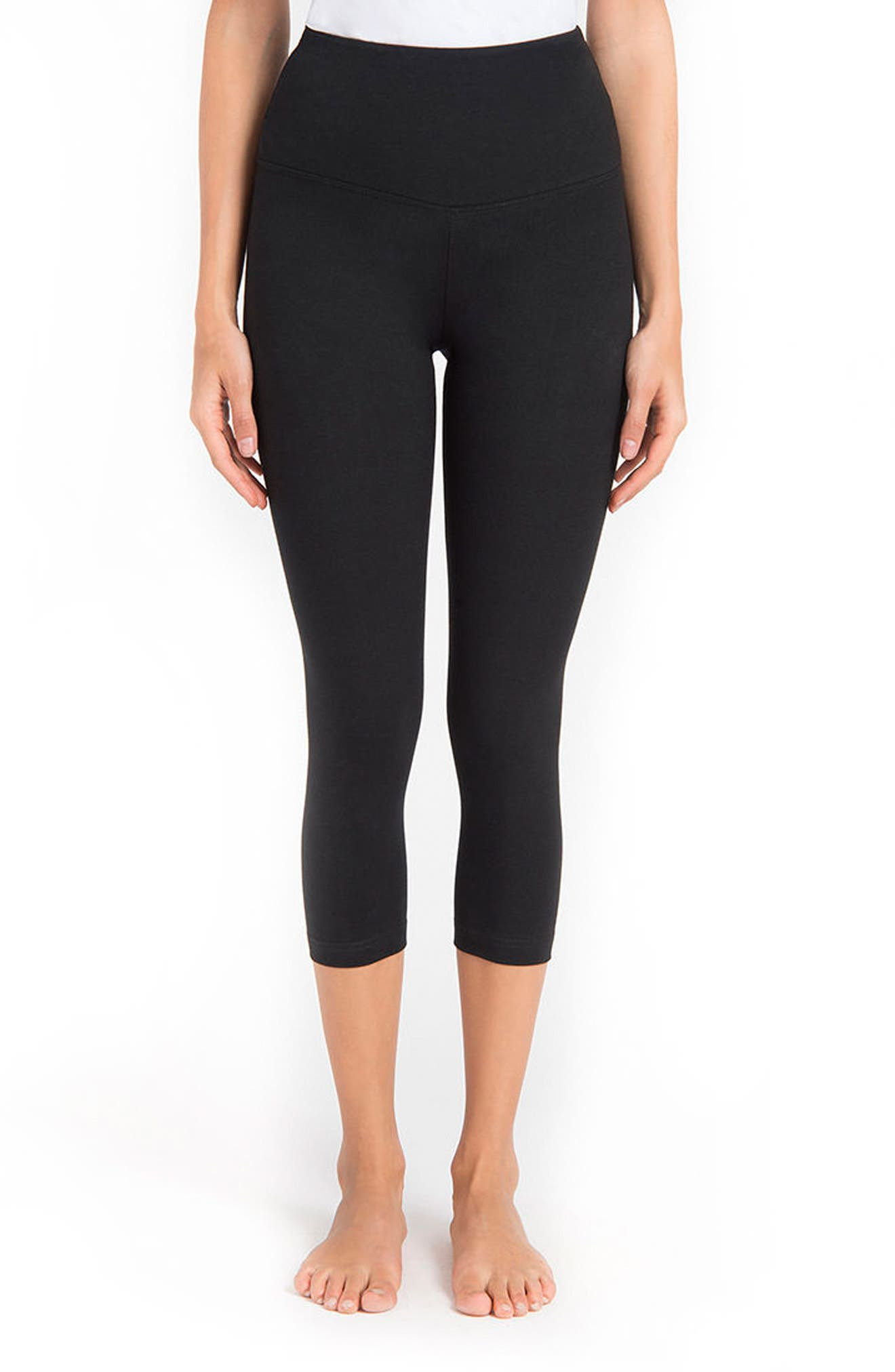 Alternate Image 1 Selected - Lyssé Control Top High Waist Capris