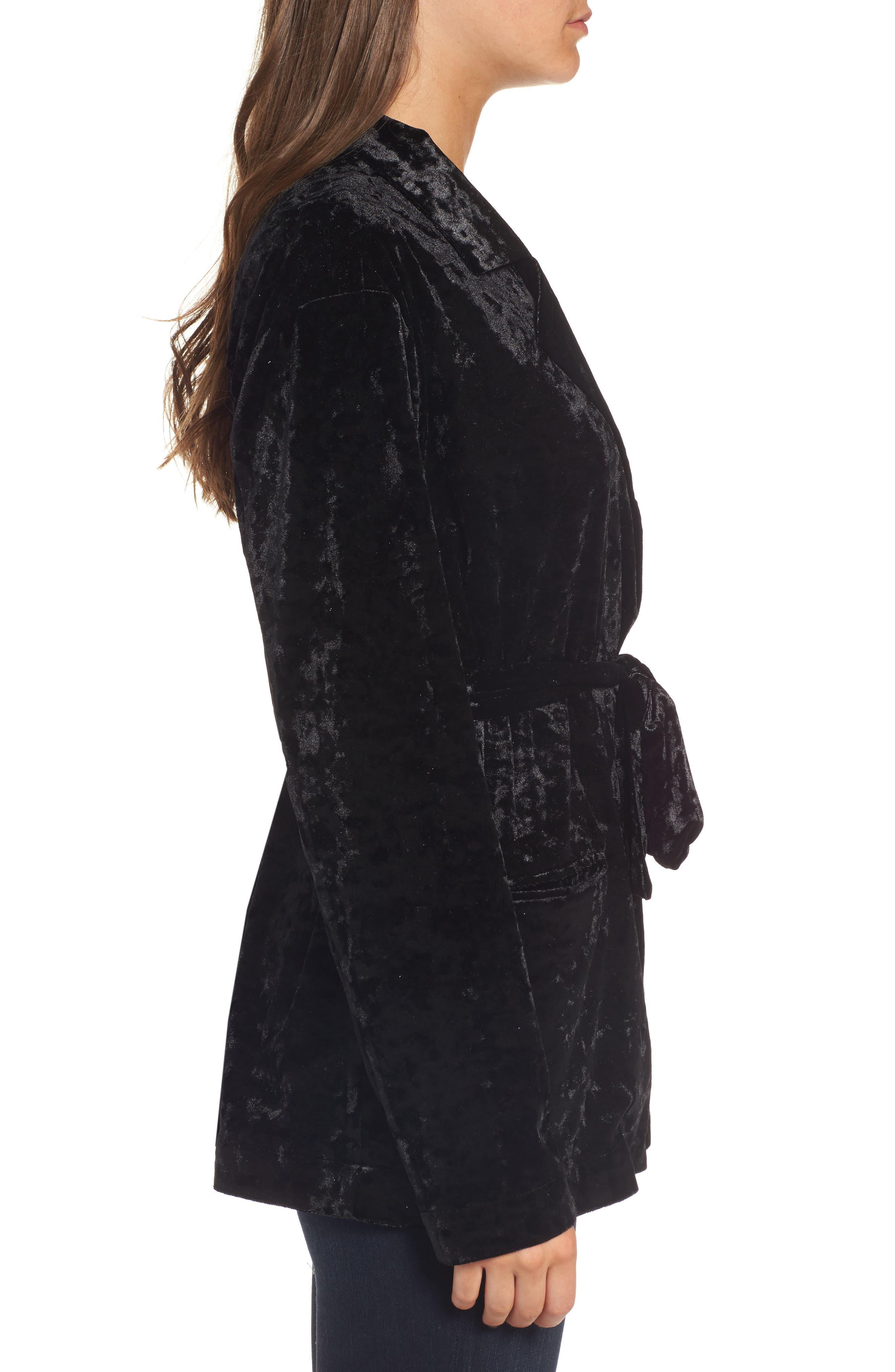 Alternate Image 3  - Chelsea28 Velvet Smoking Jacket