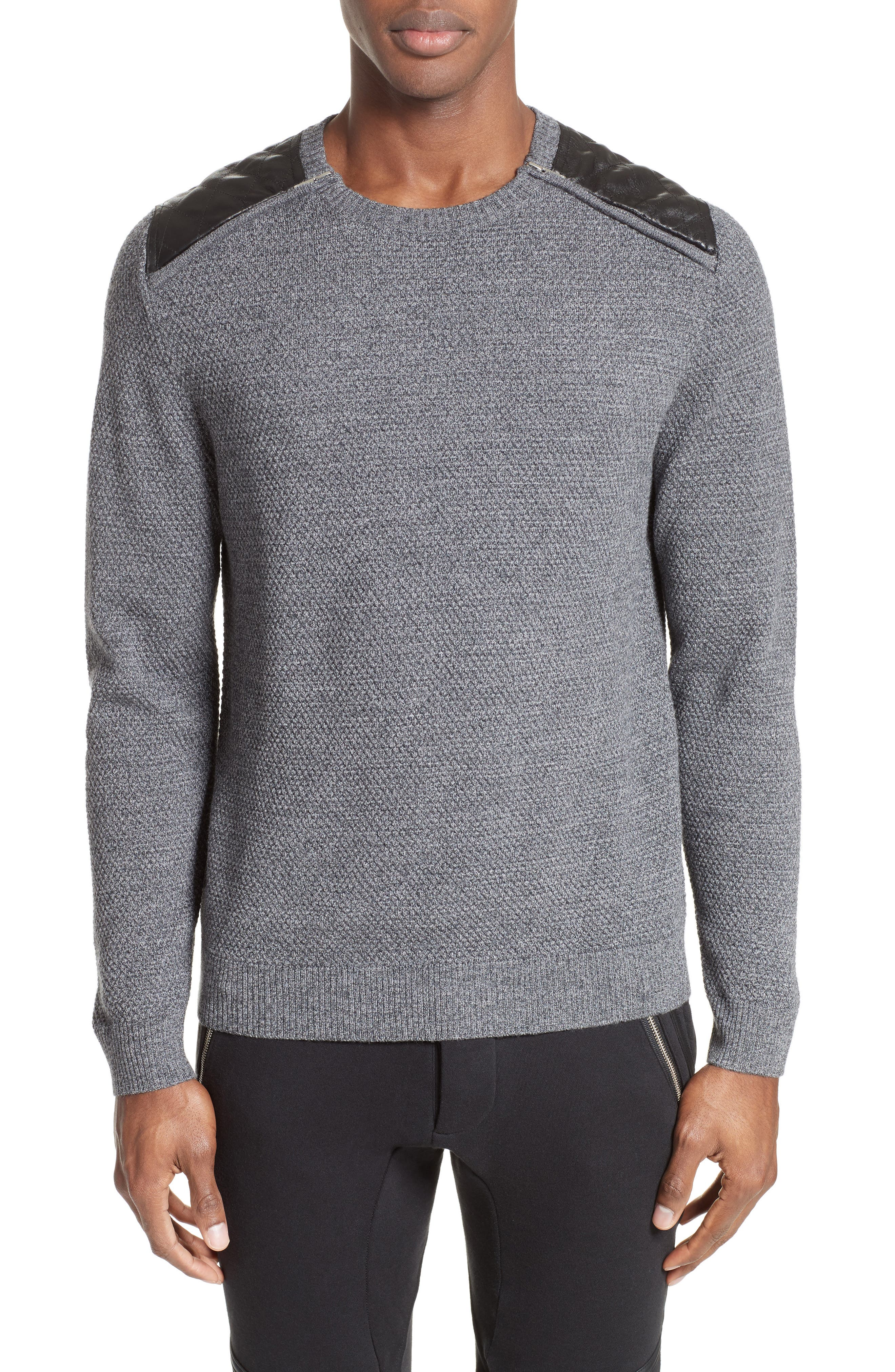 Merino Wool Sweater,                         Main,                         color, Grey