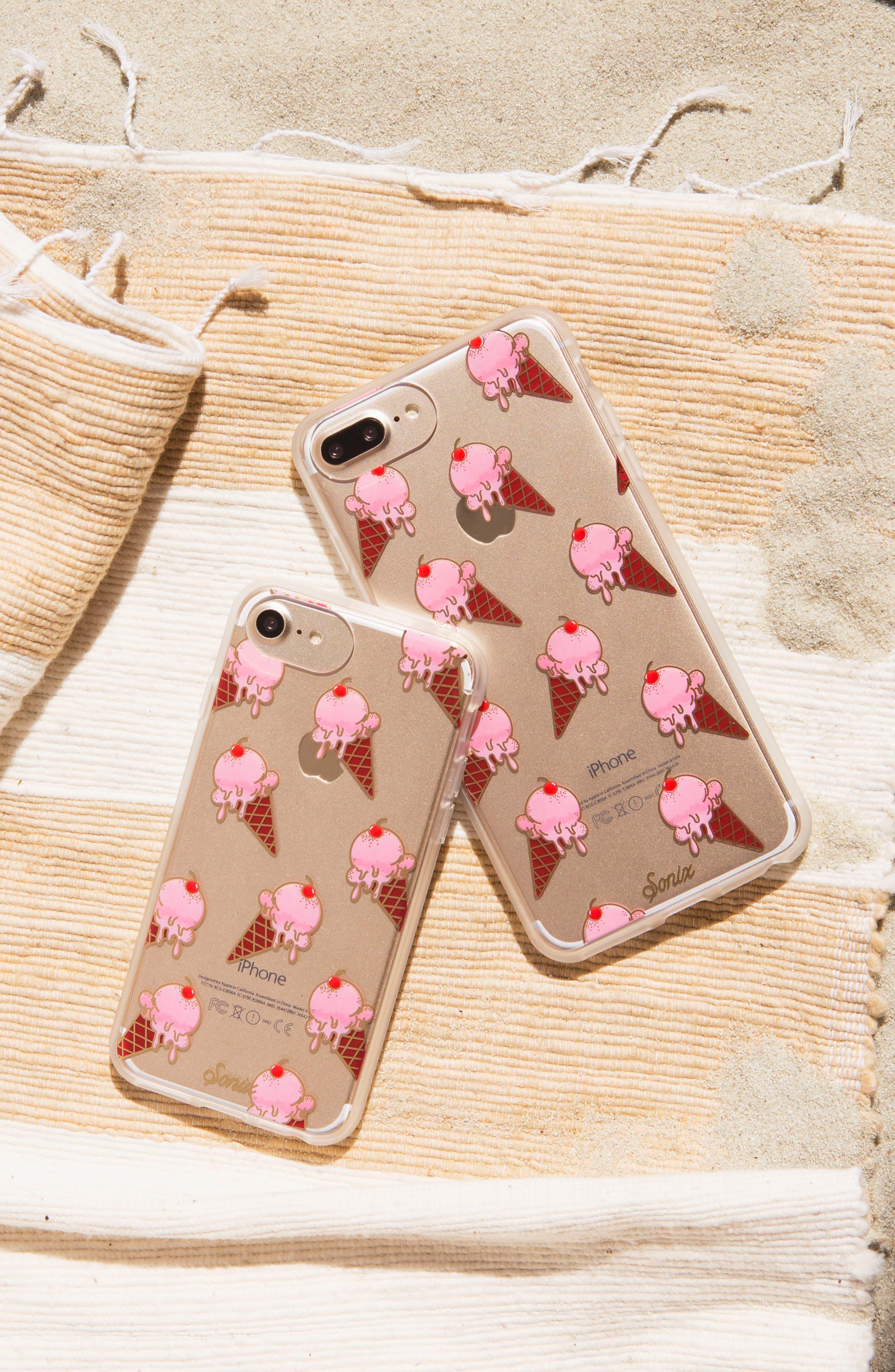 Ice Cream iPhone 6/6s/7/8 & 6/6s/7/8 Plus Case,                             Alternate thumbnail 3, color,                             Pink