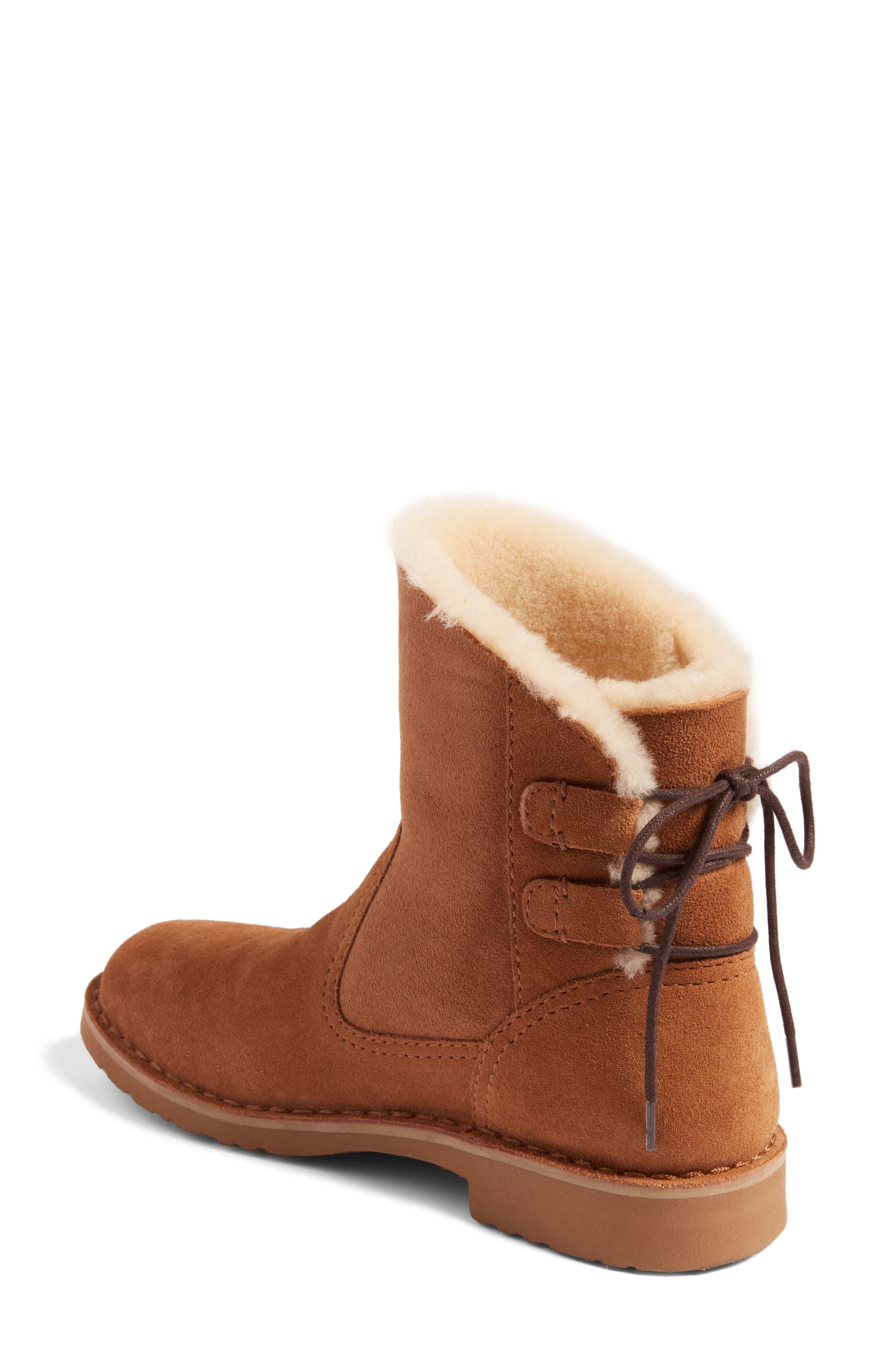 Alternate Image 2  - UGG® Naiyah Lace-Back Genuine Shearling Boot (Women)