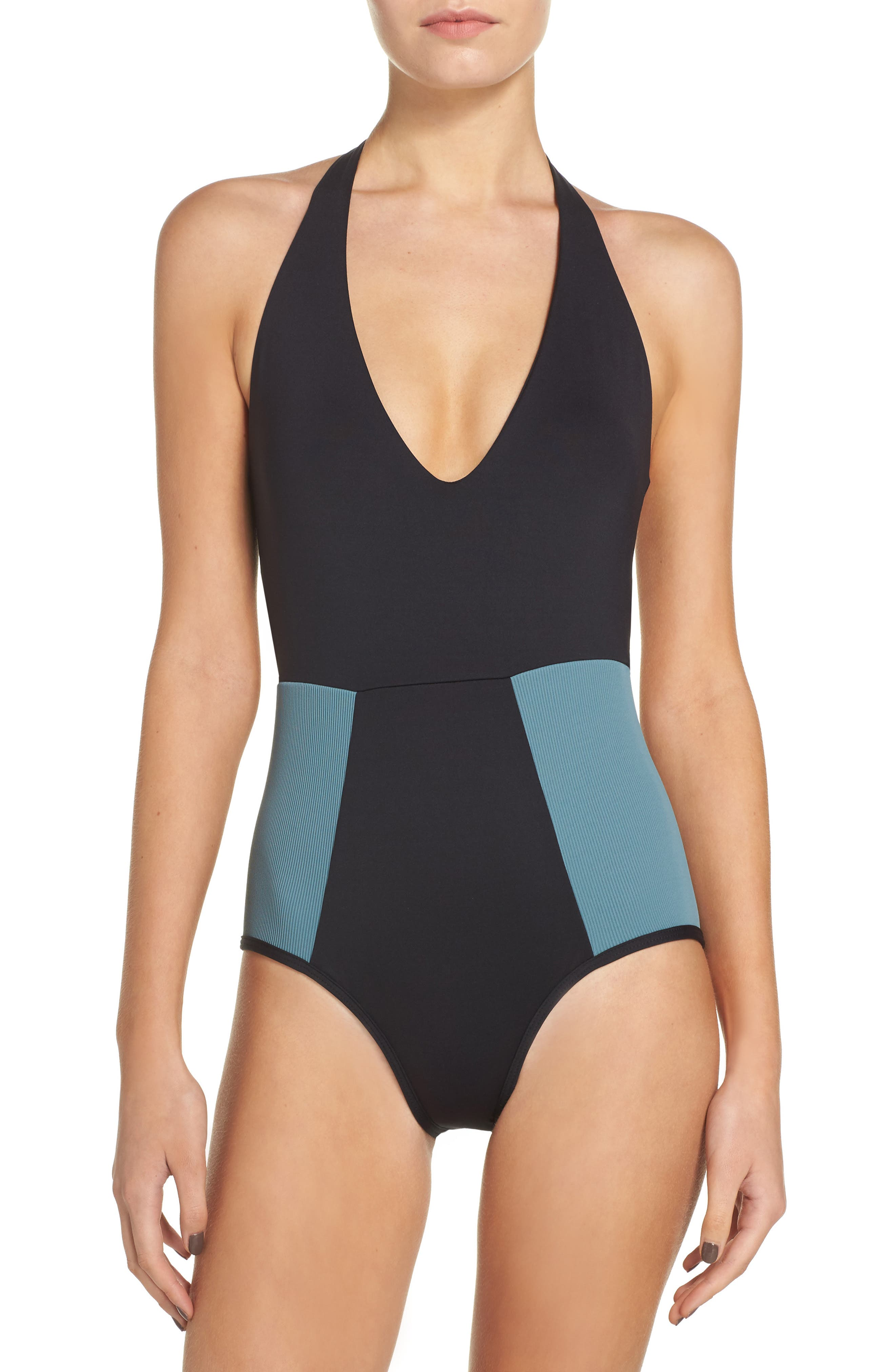Fireside One-Piece Swimsuit,                         Main,                         color, Black
