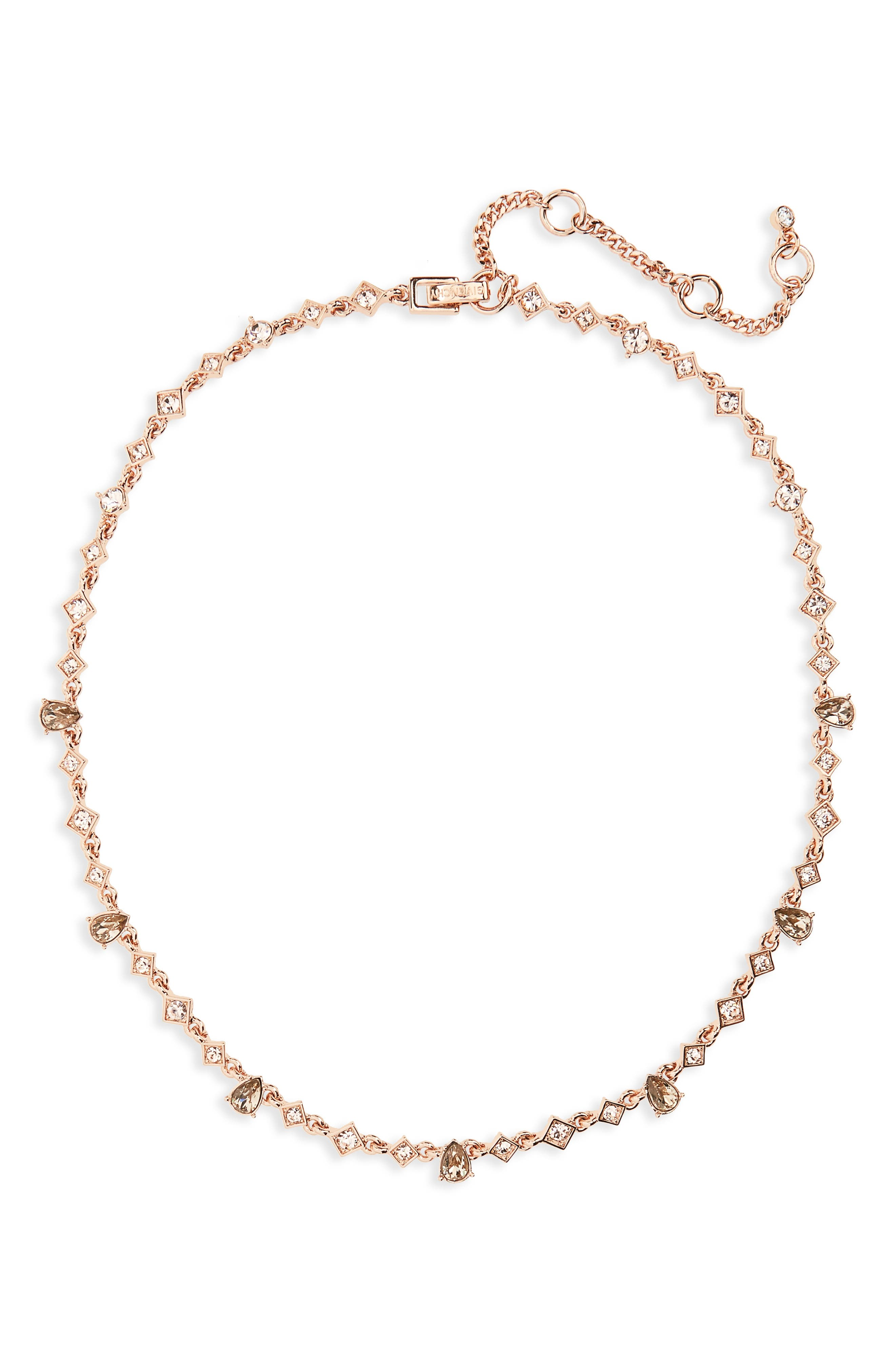 Savannah Collar Necklace,                         Main,                         color, Silk / Rose Gold
