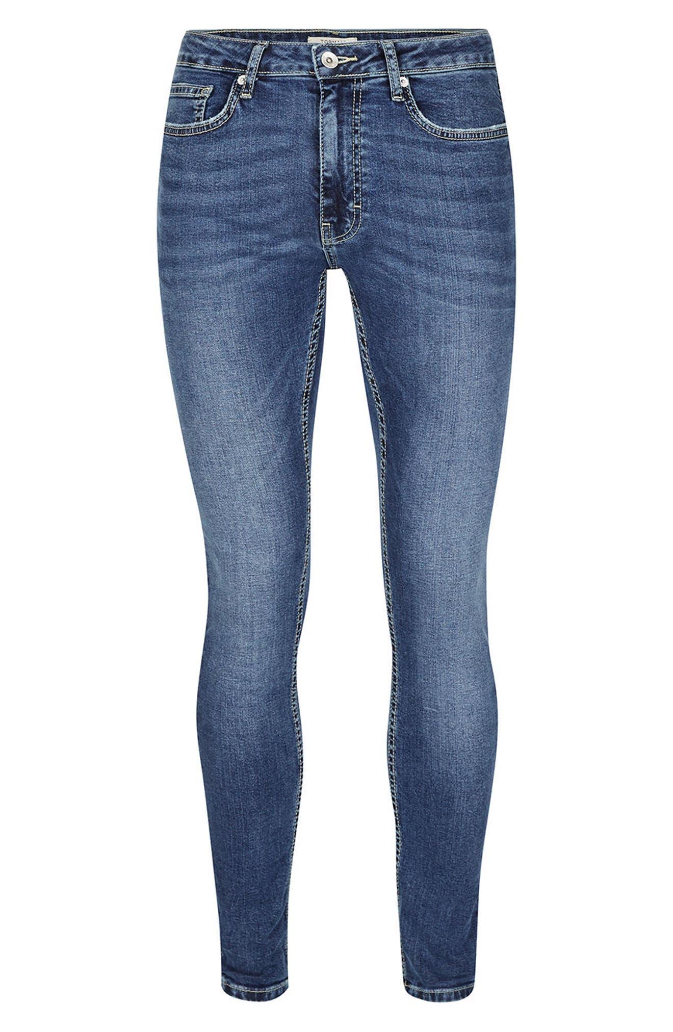 Alternate Image 6  - Topman Spray-On Skinny Fit Jeans