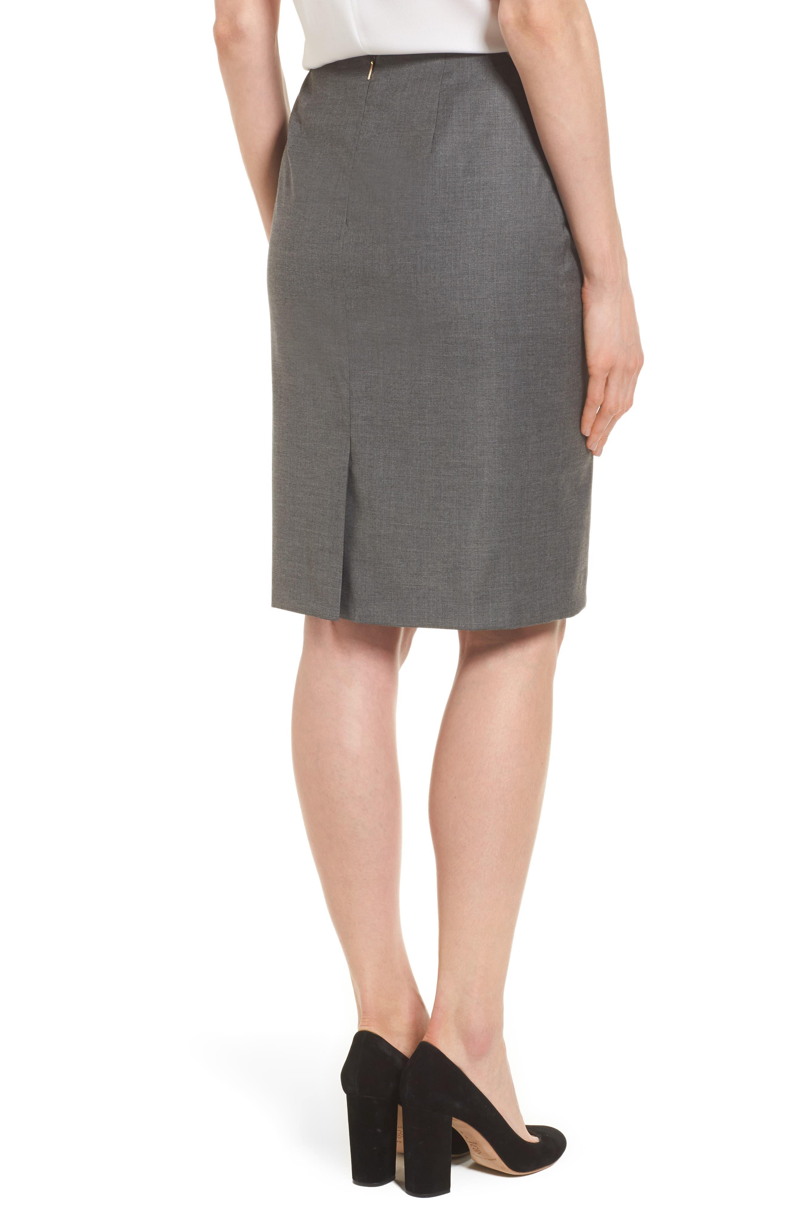 Alternate Image 3  - BOSS Vileana Wool Blend Suit Skirt