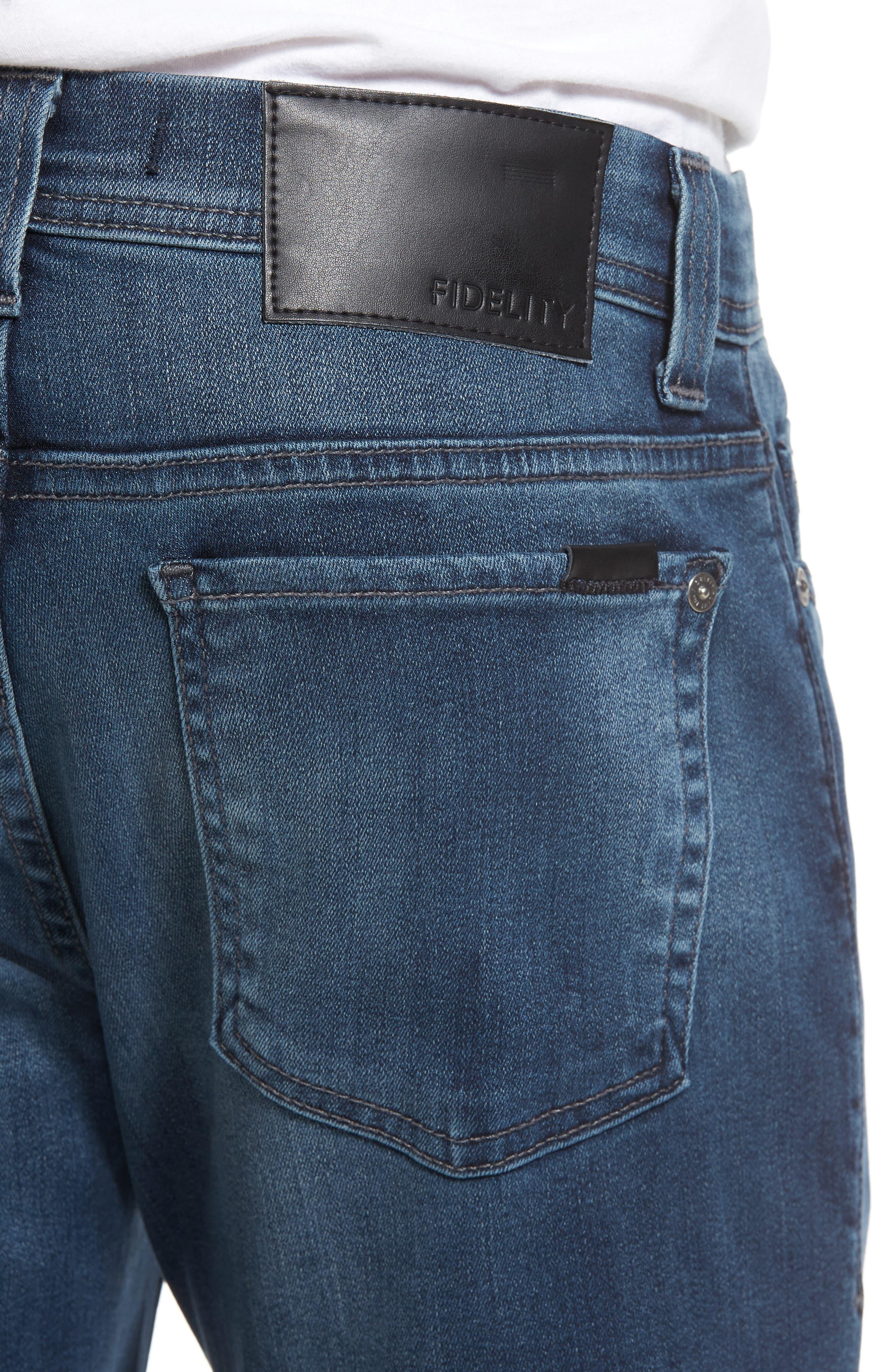 Fidelity Jimmy Slim Straight Leg Jeans,                             Alternate thumbnail 4, color,                             Twilight Lumina