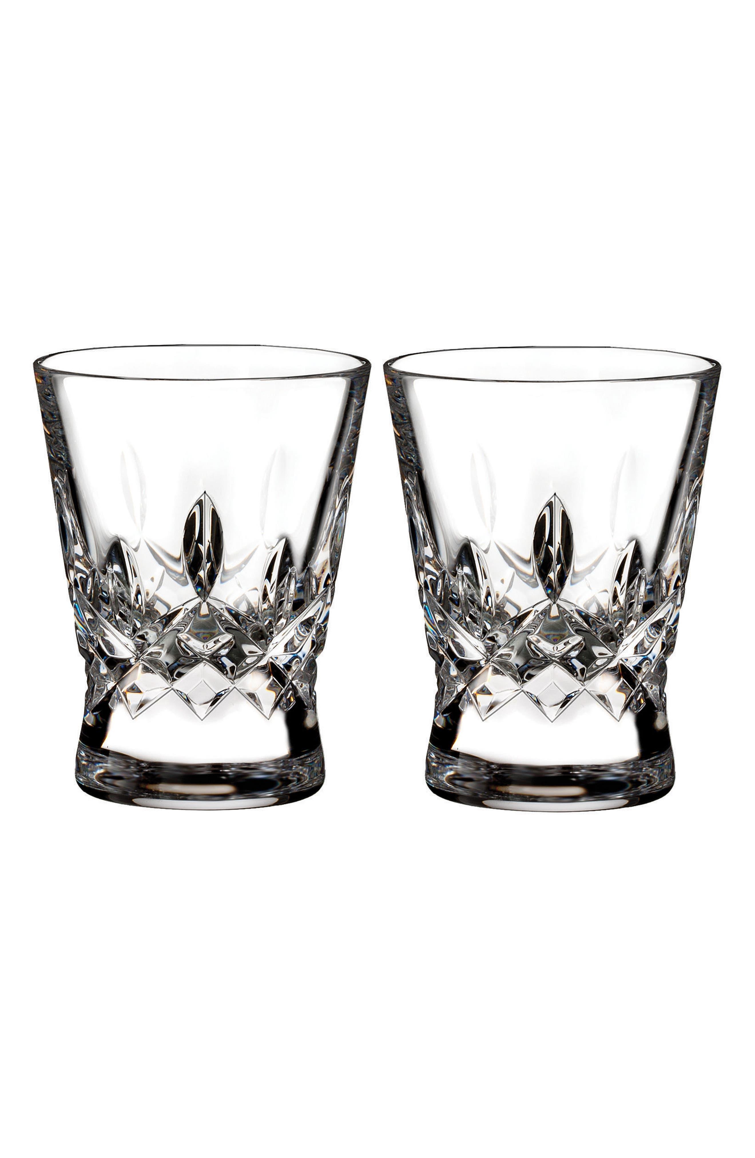 Lismore Pops Set of 2 Lead Crystal Shot Glasses,                         Main,                         color, Crystal
