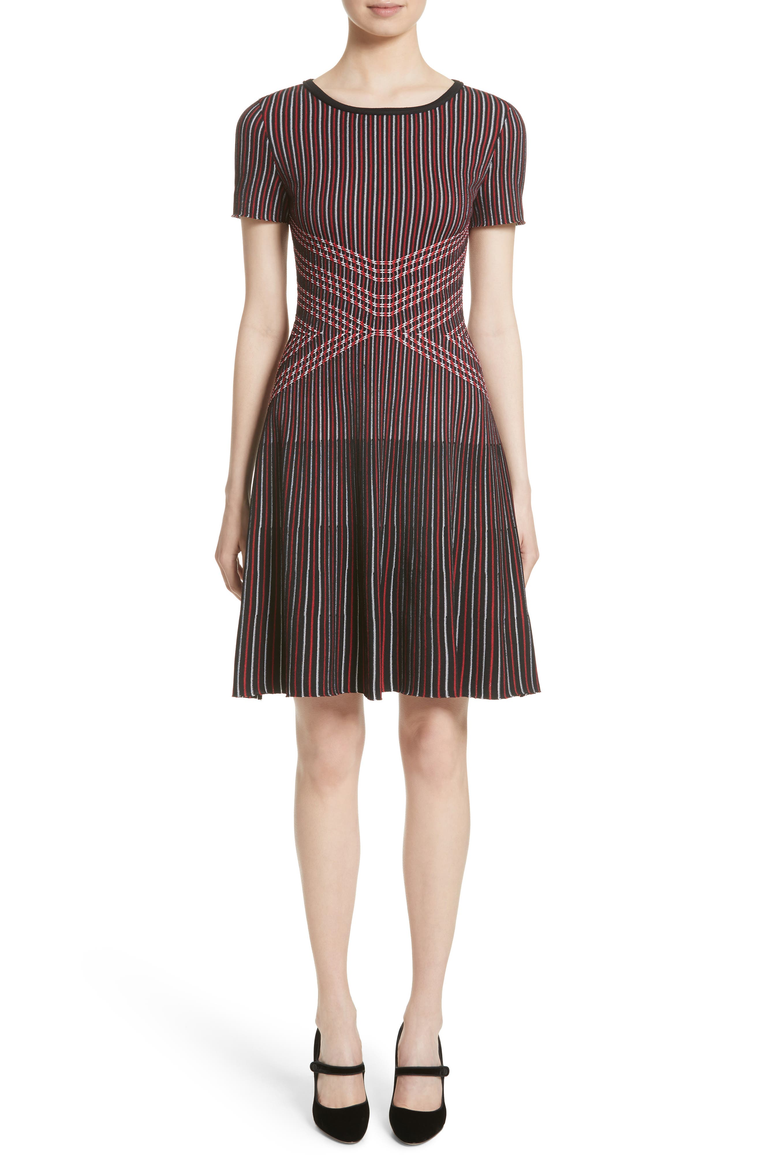 St. John Collection Atlantis Knit Fit & Flare Dress (Nordstrom Exclusive)
