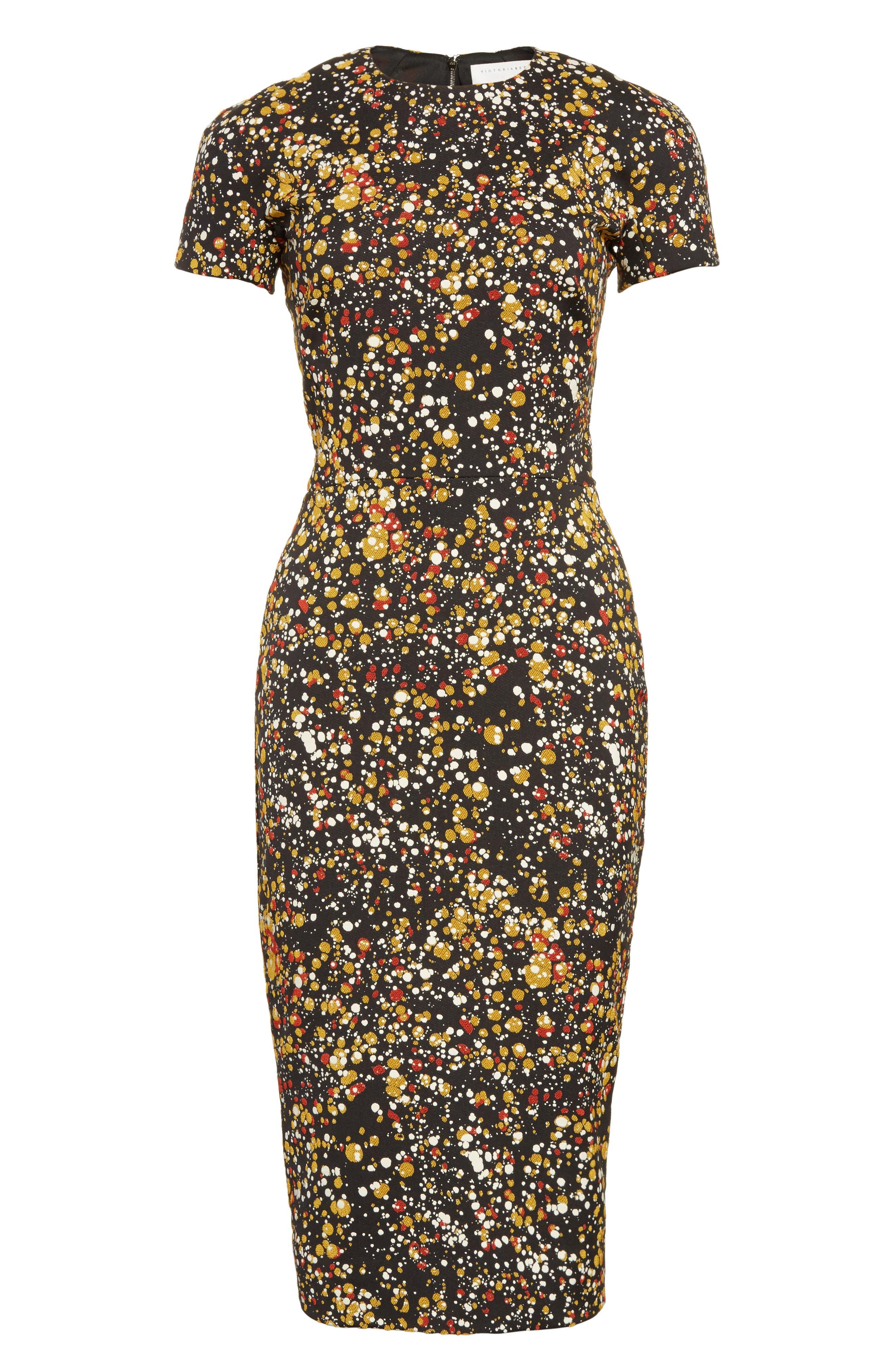 Alternate Image 4  - Victoria Beckham Marble Jacquard Dress