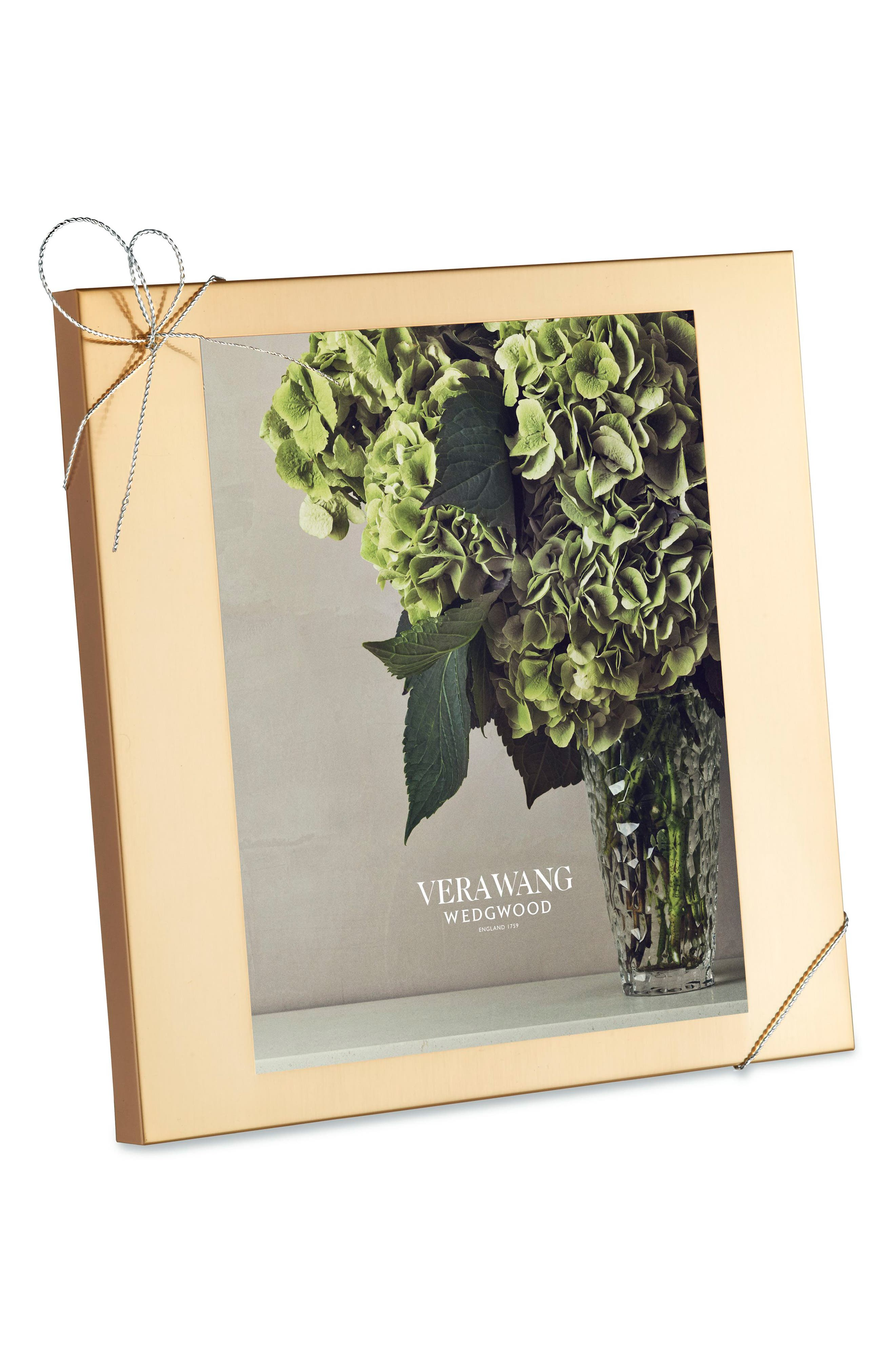 x Wedgwood Love Knots Picture Frame,                         Main,                         color, Metallic Gold