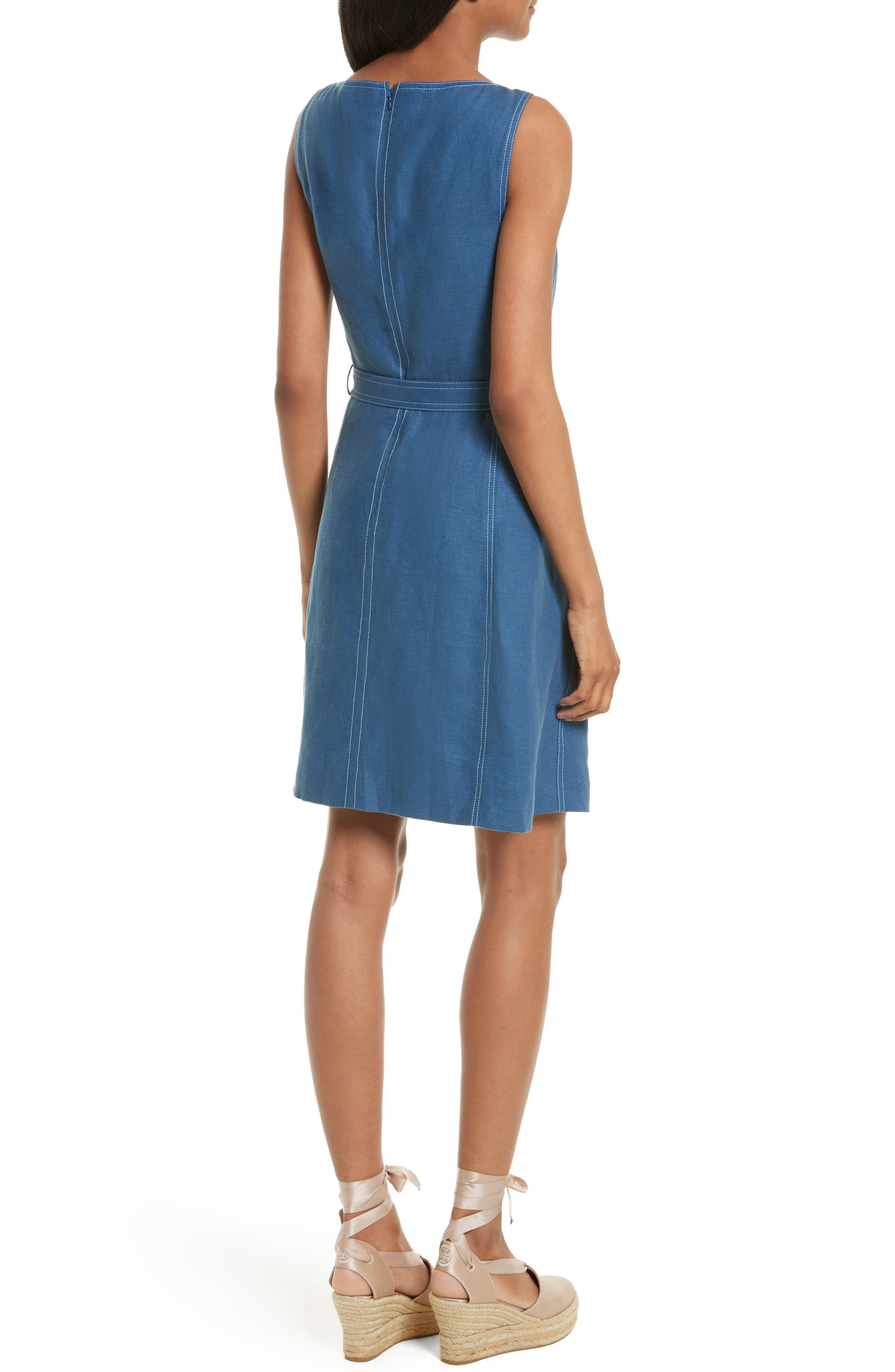 Alternate Image 2  - Tory Burch Nadia Linen A-Line Dress