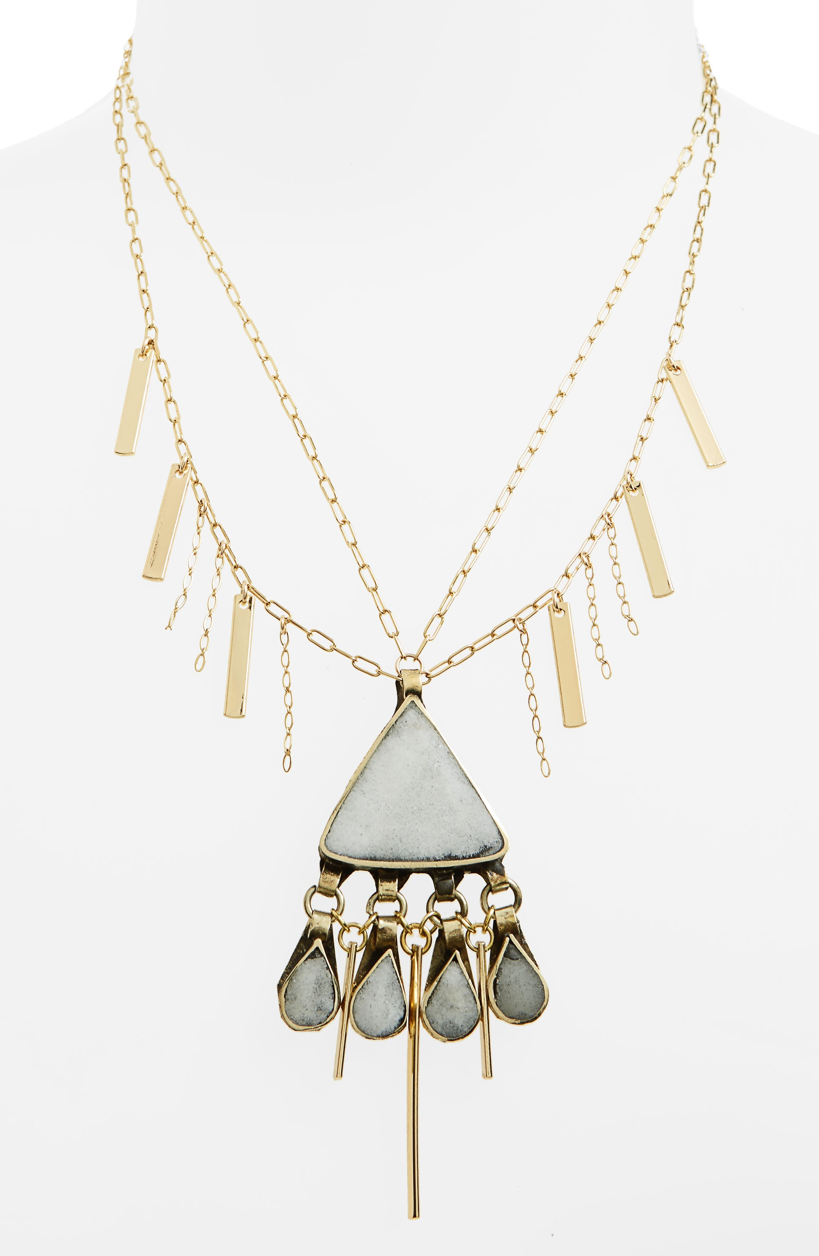 Gia Pendant Necklace,                             Alternate thumbnail 2, color,                             Gold
