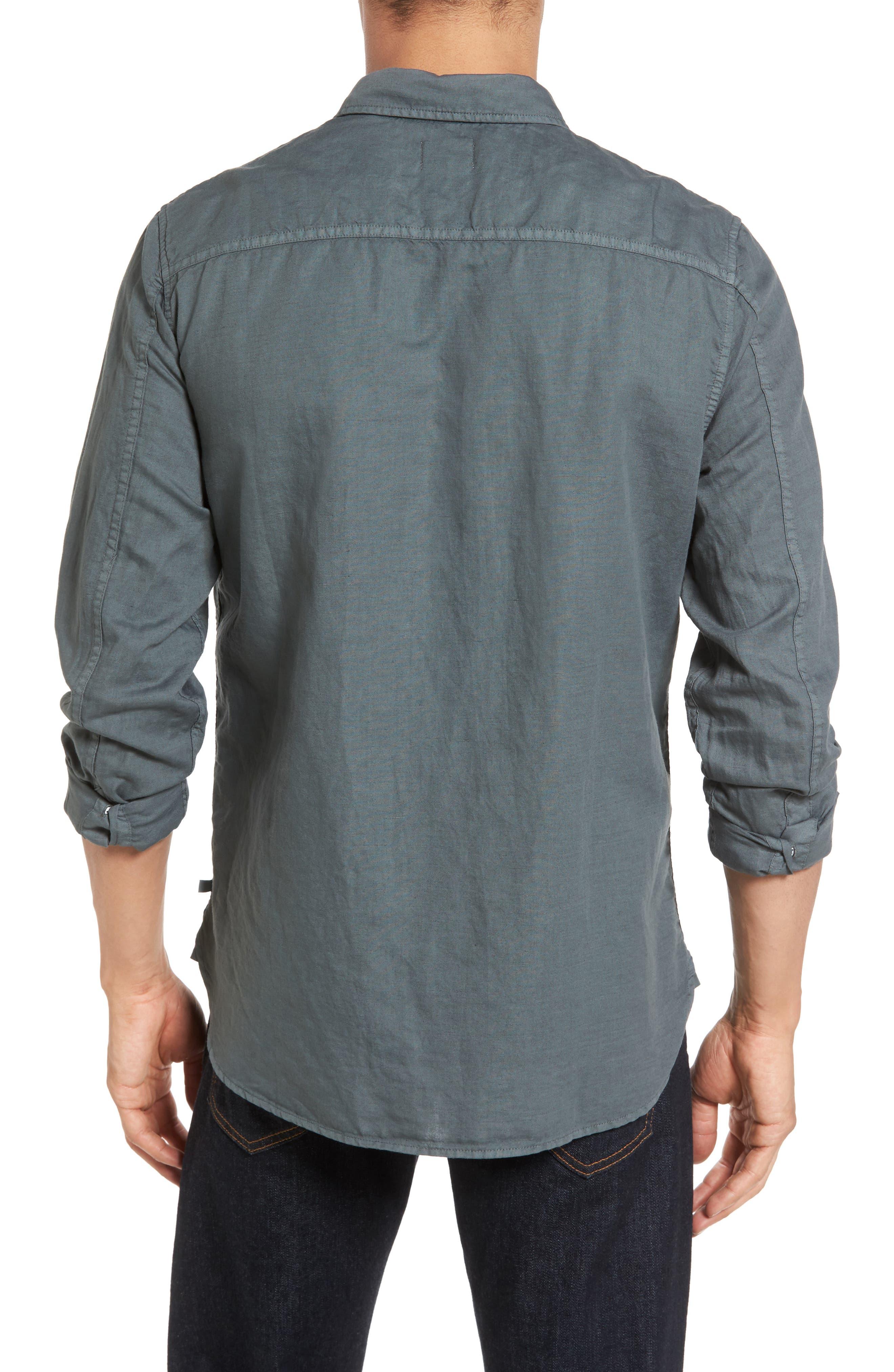Colton Slim Fit Cotton & Linen Sport Shirt,                             Alternate thumbnail 2, color,                             Pigment Castlerock