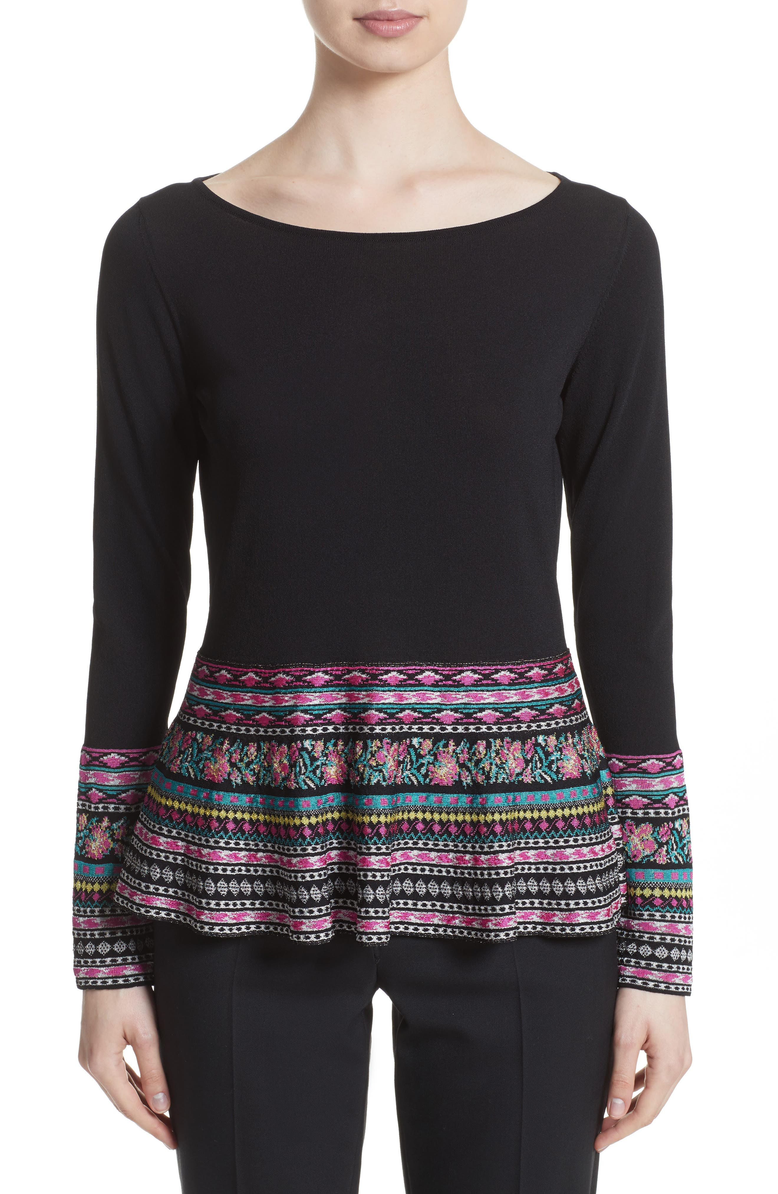 Alternate Image 1 Selected - Etro Peplum Sweater
