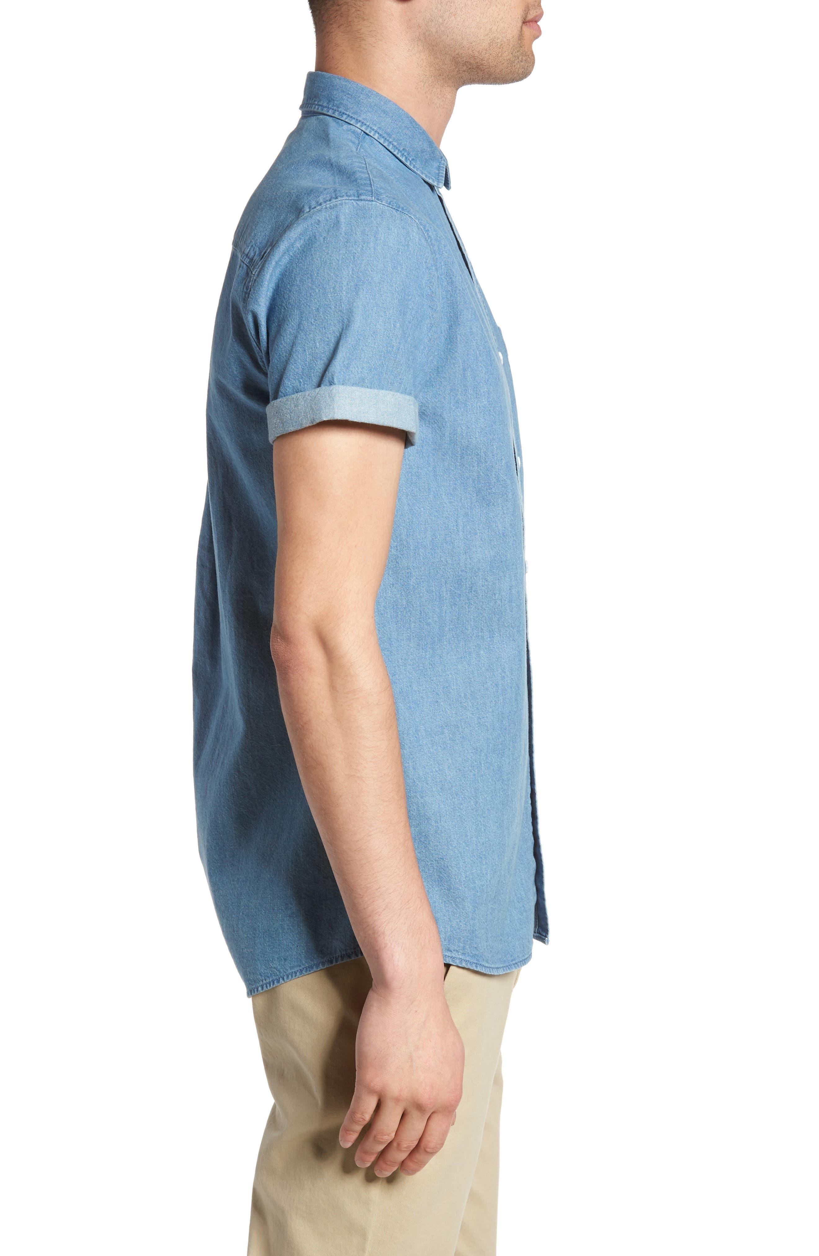 Alternate Image 3  - Topman Washed Denim Shirt