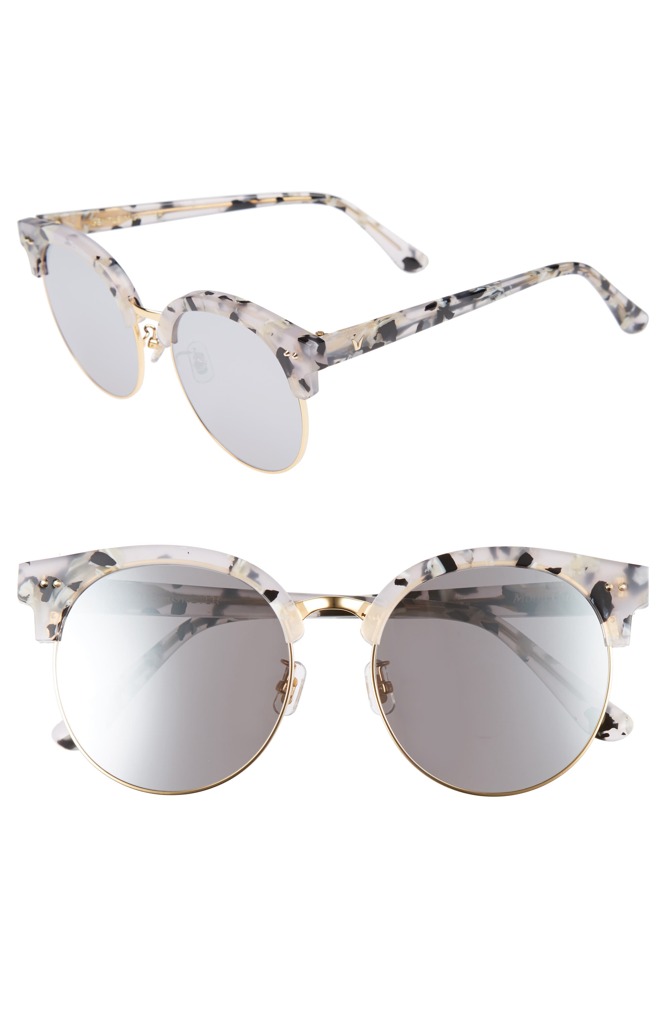 Gentle Monster Moon Cut 54mm Rounded Sunglasses