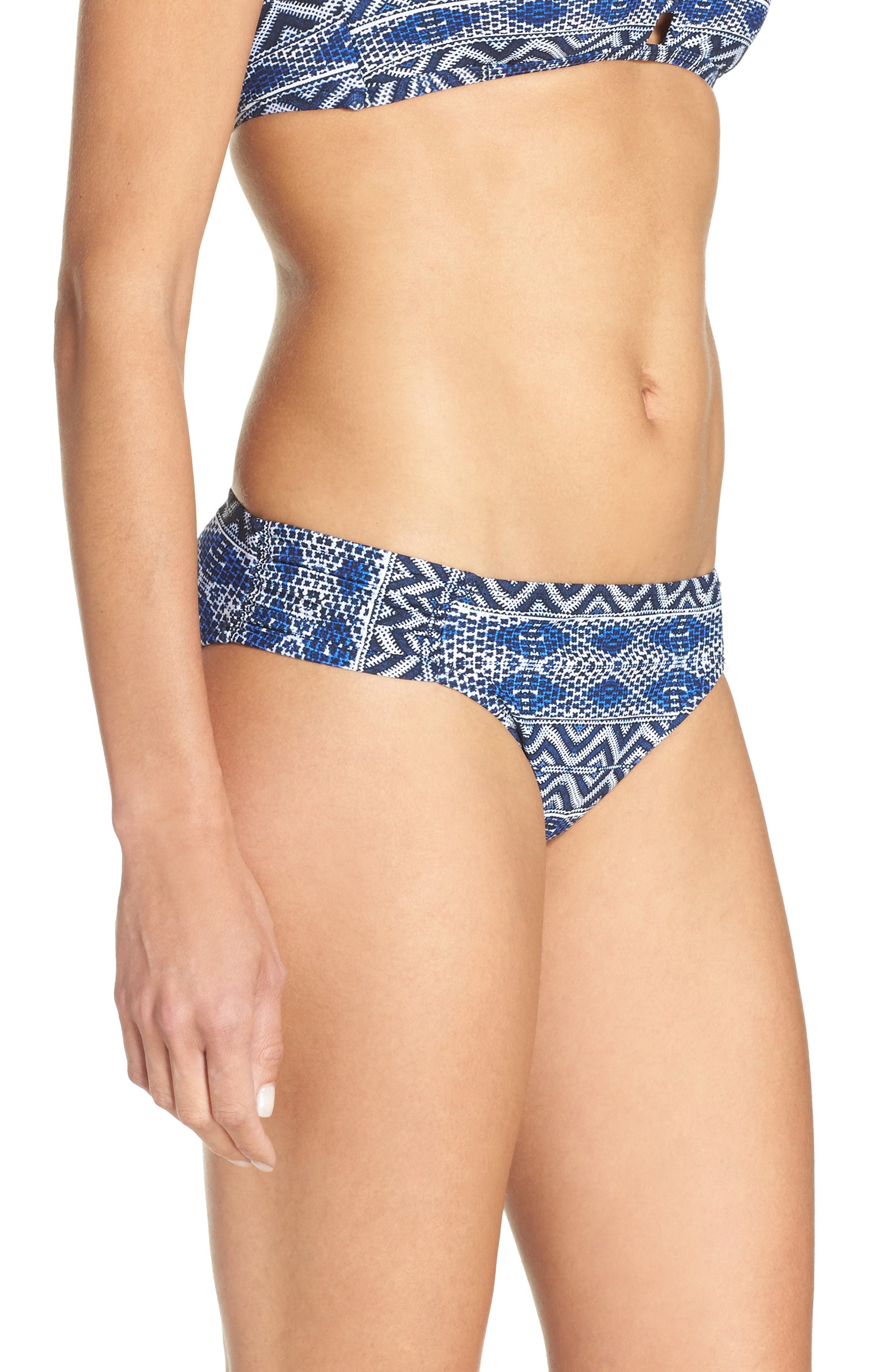 Alternate Image 3  - La Blanca Designer Jeans Hipster Bikini Bottoms