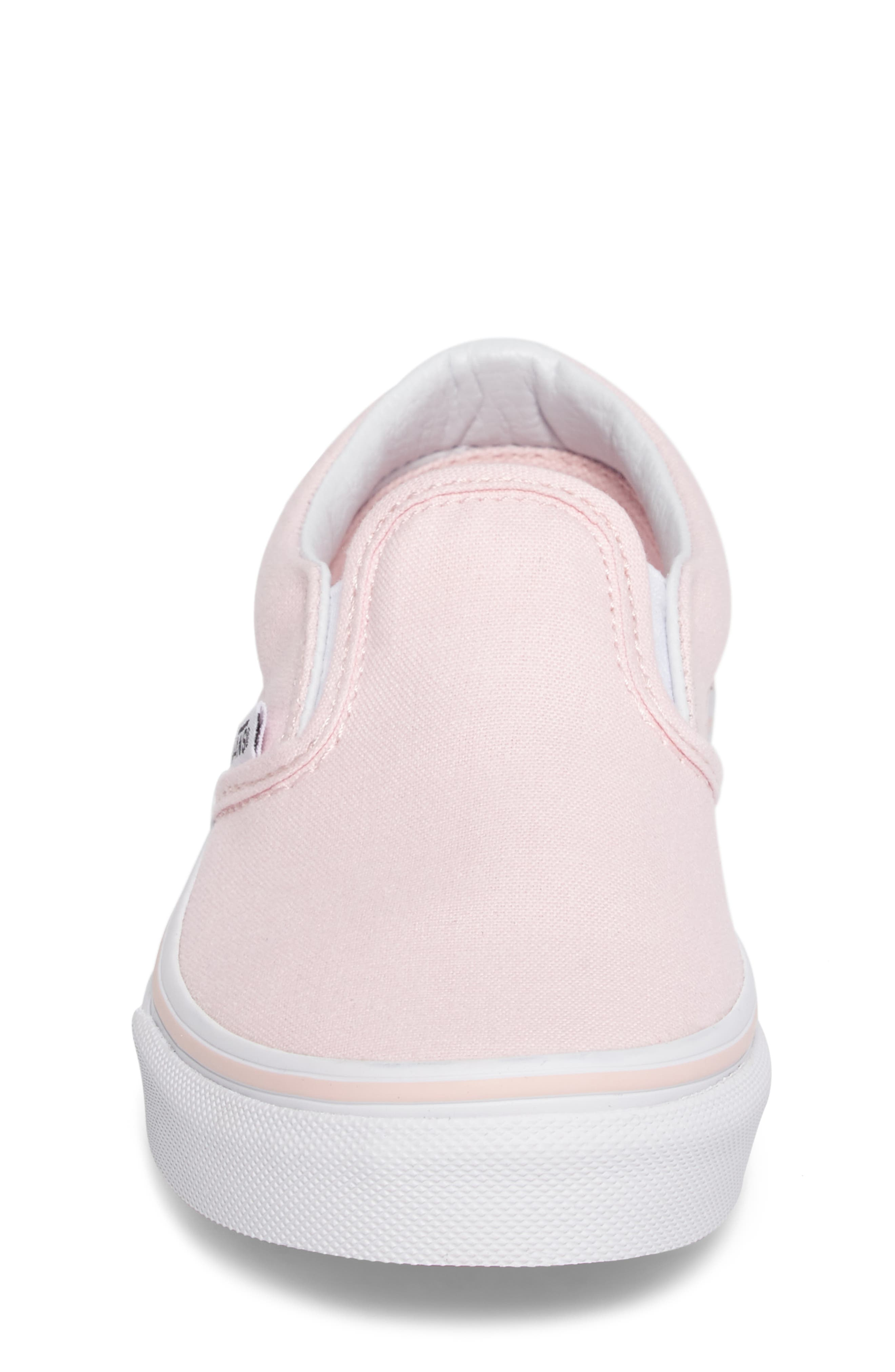 Classic Slip-On Sneaker,                             Alternate thumbnail 4, color,                             Ballerina/ True White