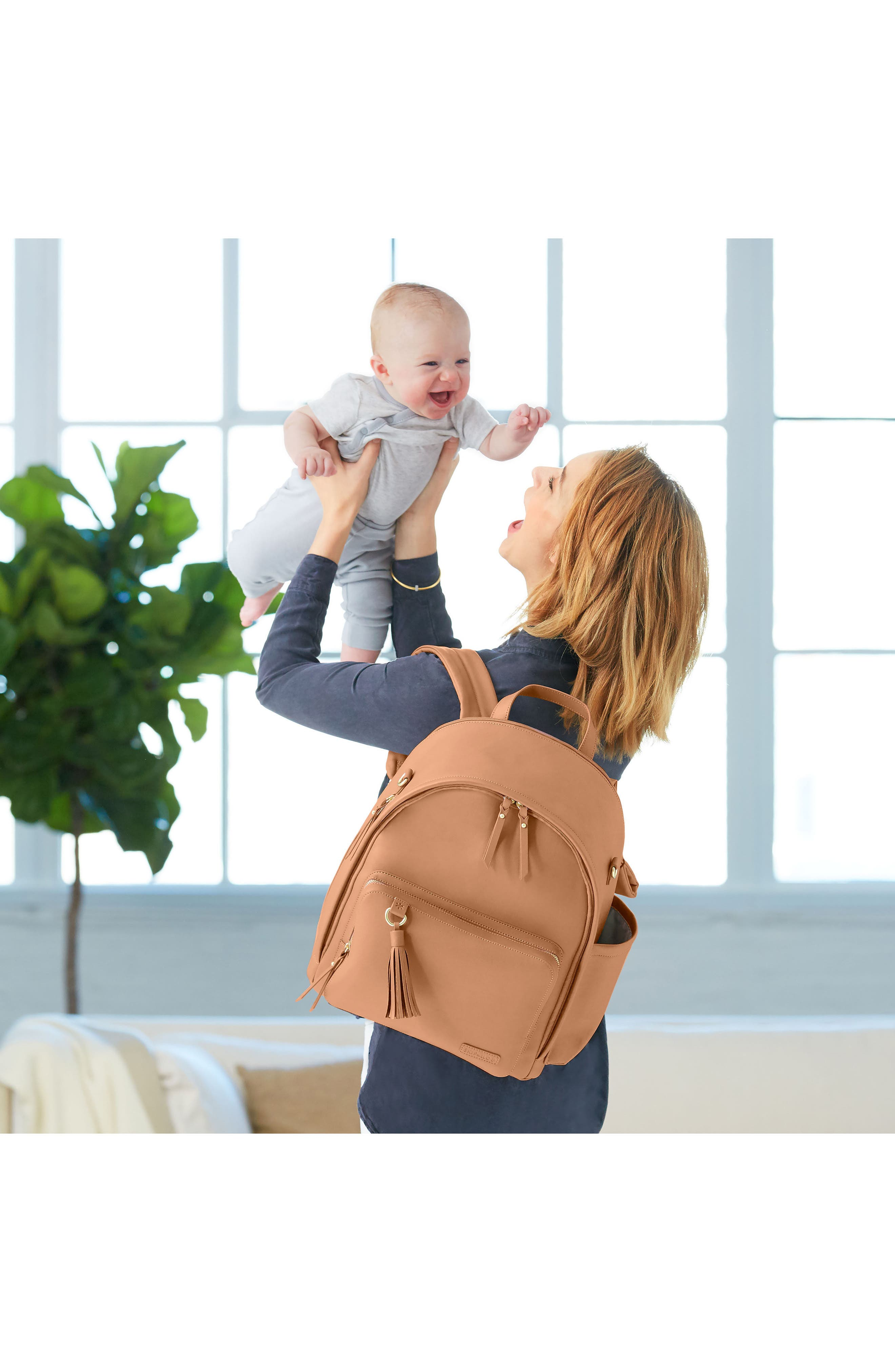 Alternate Image 7  - Skip Hop Greenwich Simply Chic Diaper Backpack