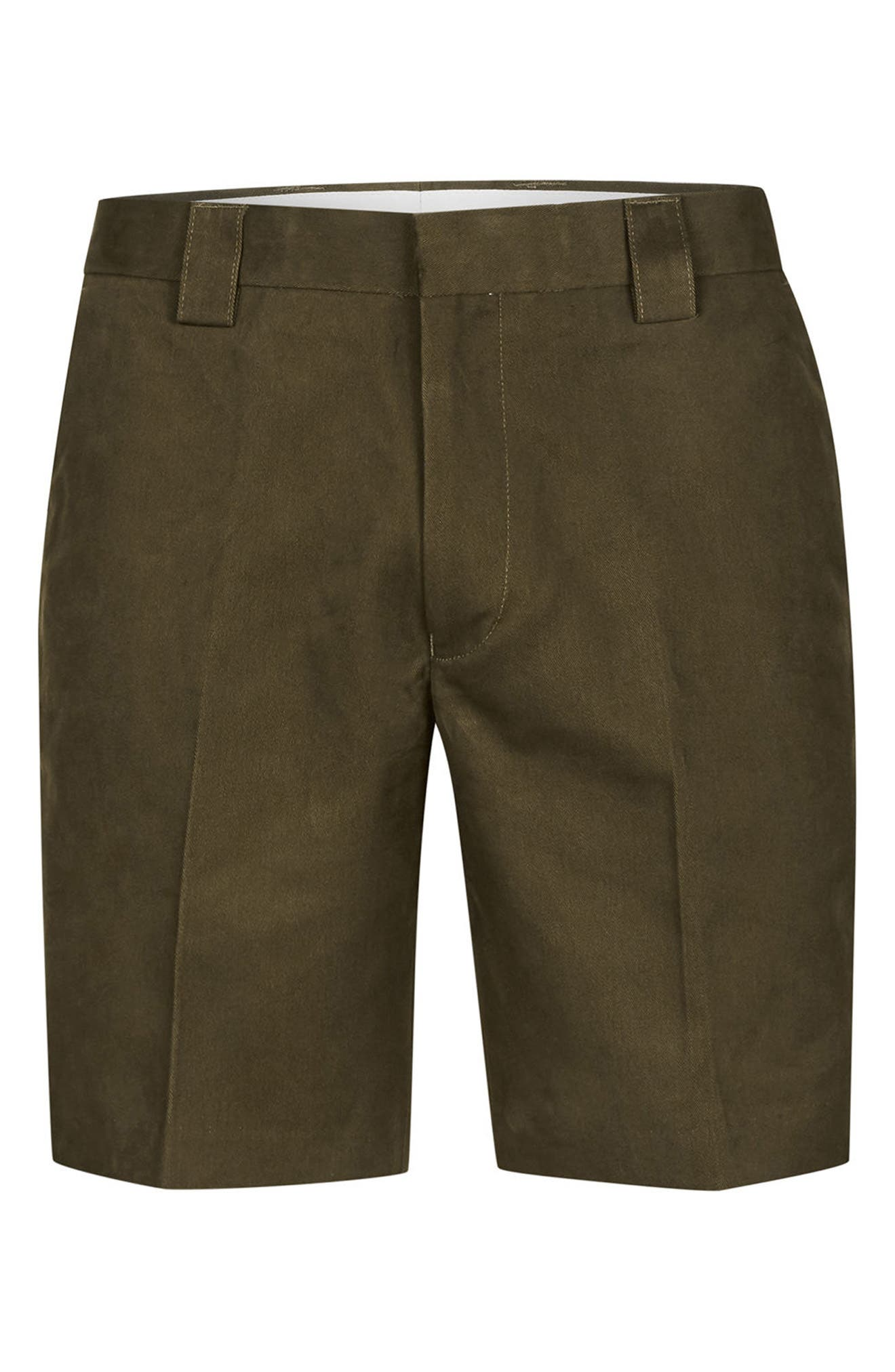 Twill Trouser Shorts,                             Alternate thumbnail 4, color,                             Olive