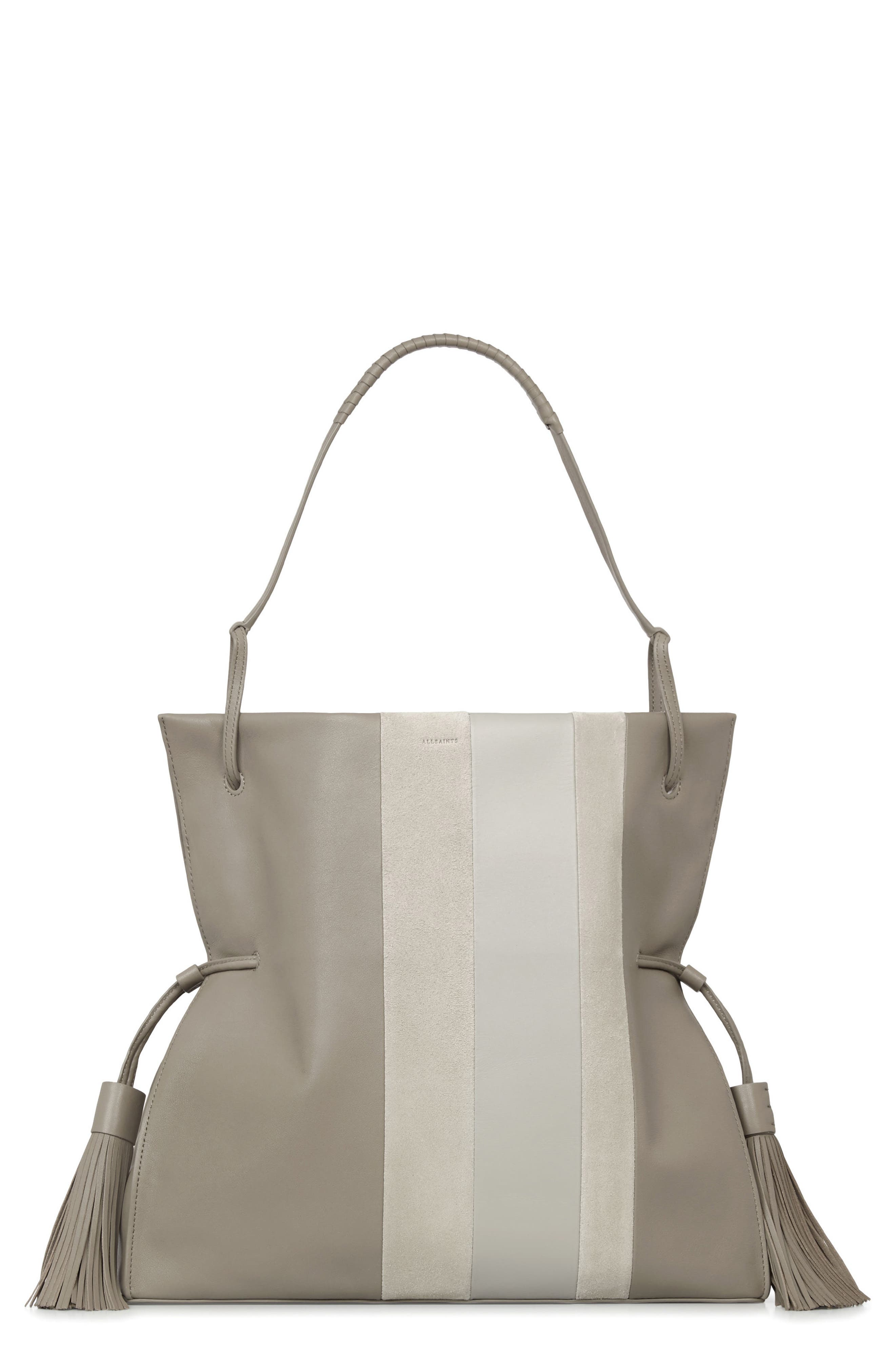 ALLSAINTS Casey Calfskin Leather & Suede Hobo