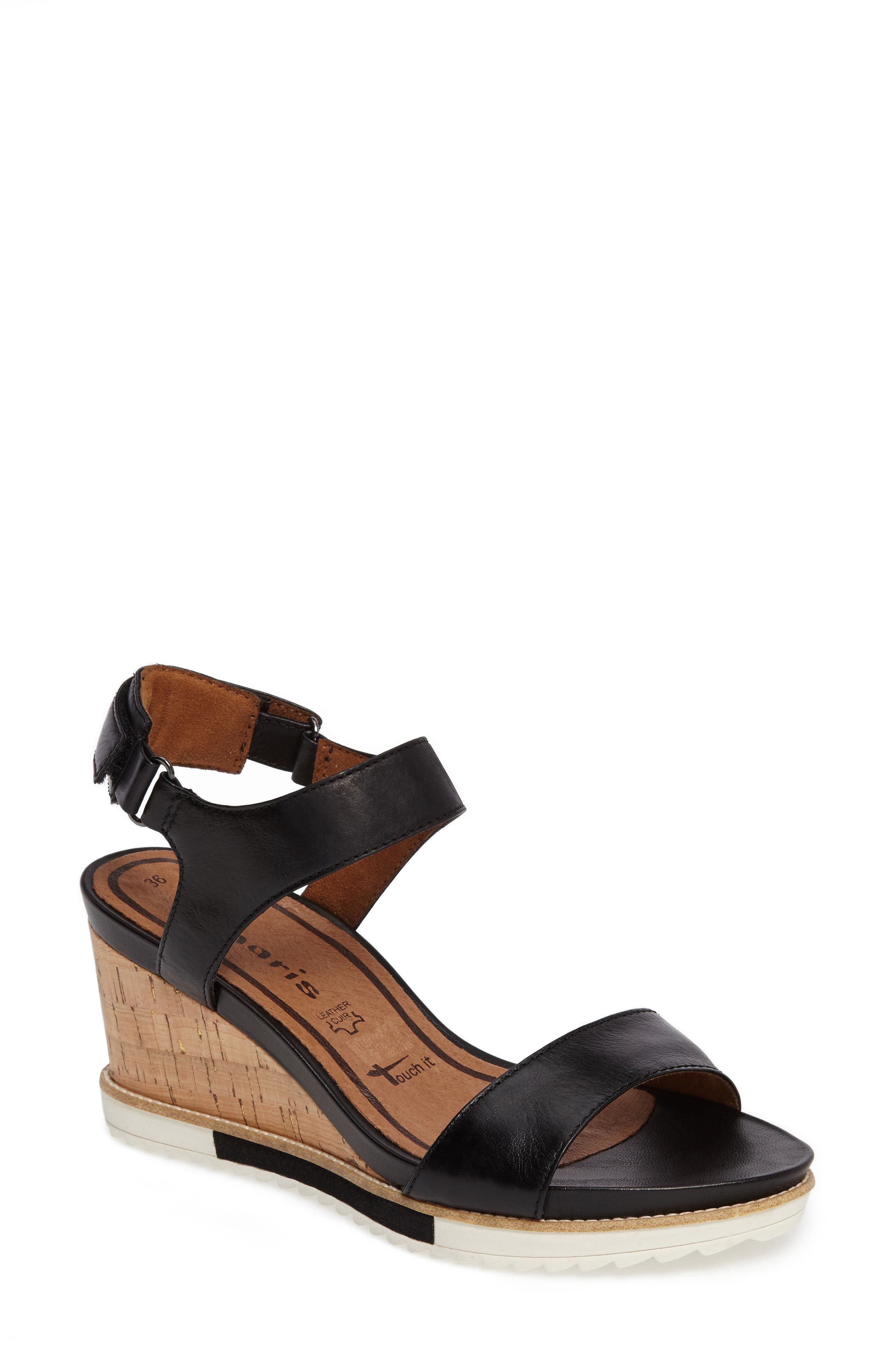 Tamaris 'Alis' Lug Sole Wedge Sandal (Women)