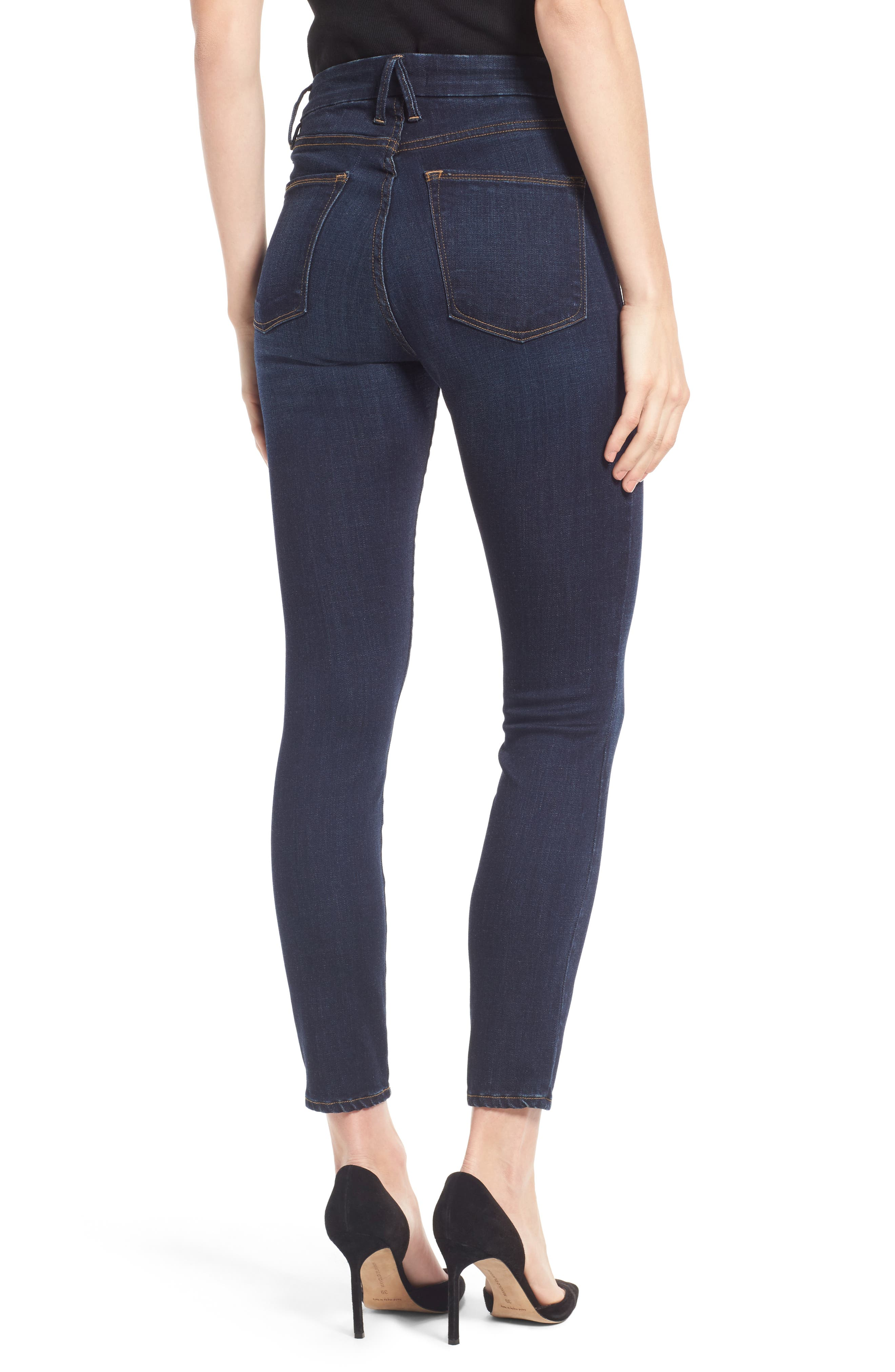 Alternate Image 2  - Good American Good Legs High Waist Ankle Skinny Jeans (Extended Sizes)