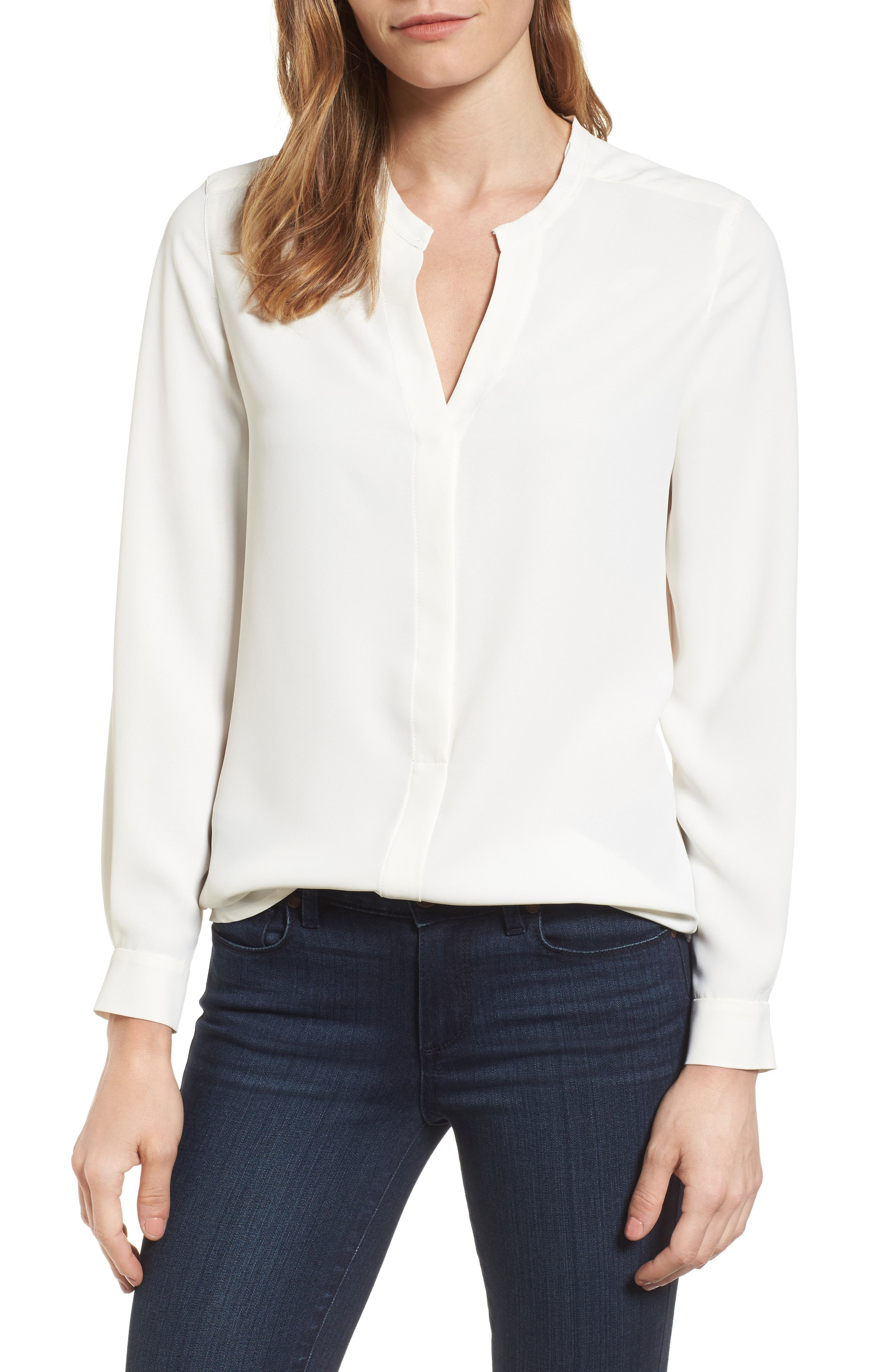 Main Image - Anne Klein Mix Media Blouse