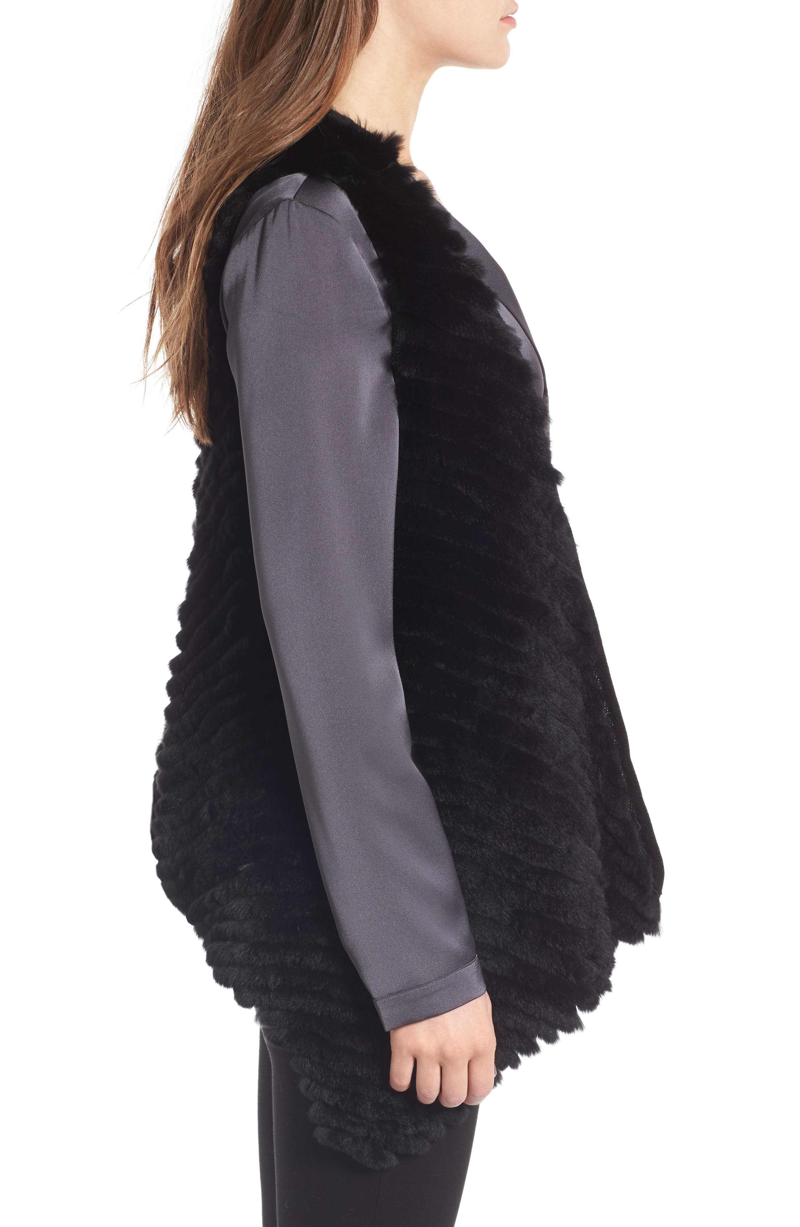 Alternate Image 3  - Love Token Genuine Rabbit Fur Vest