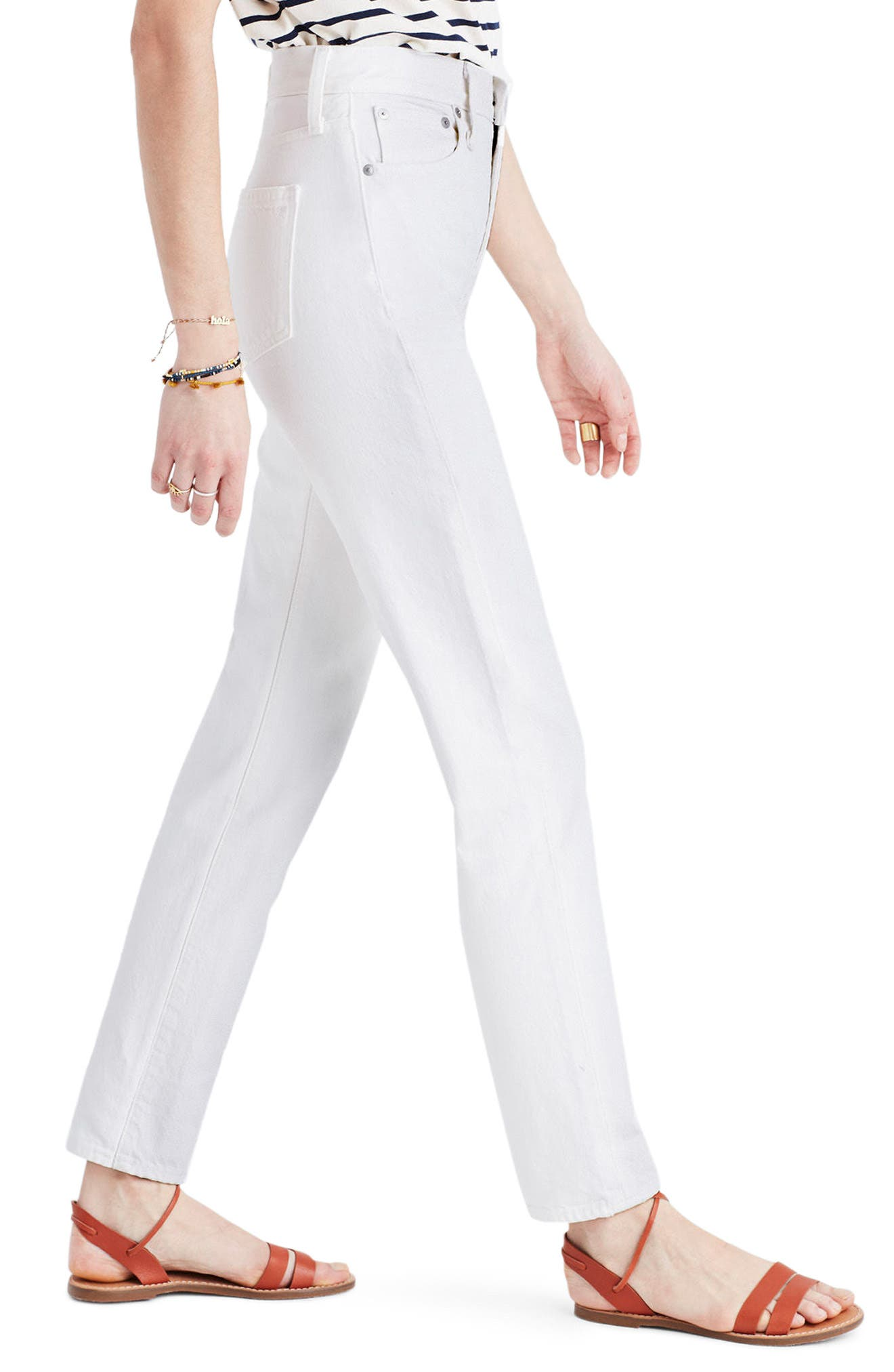 Alternate Image 3  - Madewell Perfect Summer High Waist Ankle Jeans (Tile White)