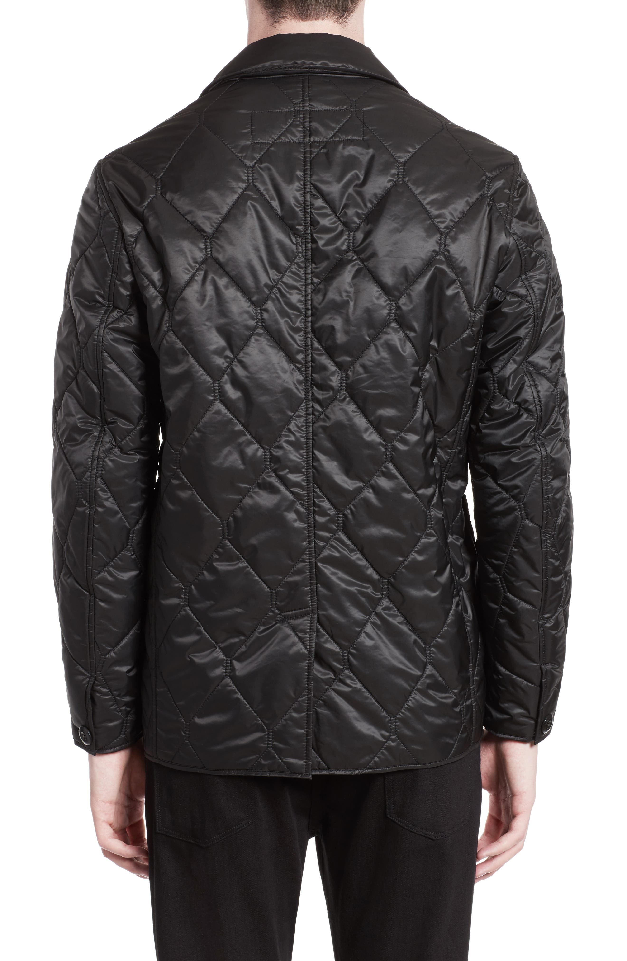 Alternate Image 2  - Burberry Rushton Trim Fit Quilted Jacket