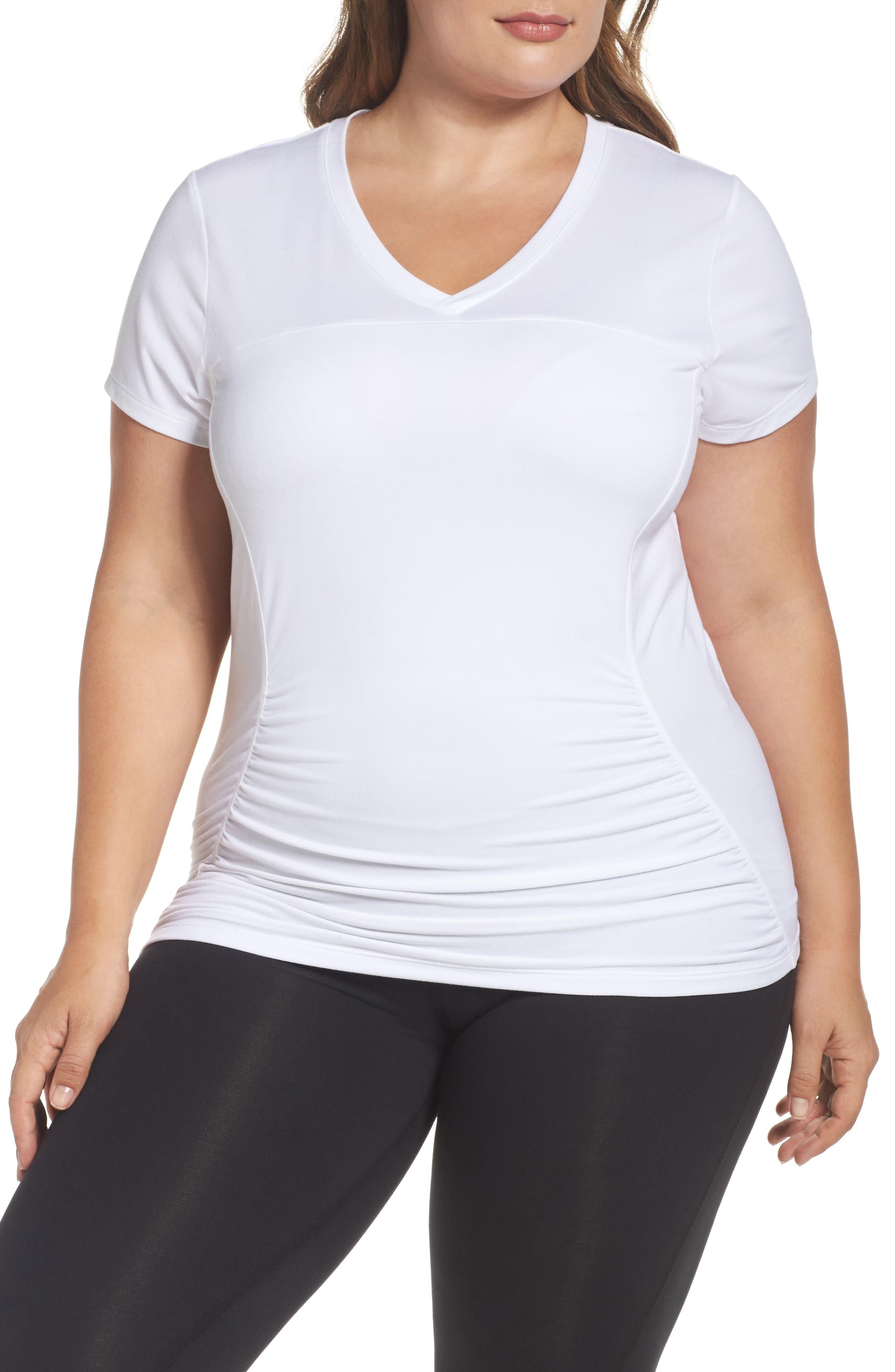 Main Image - Marika Curves 'Elizabeth' Slimming Tee (Plus Size)