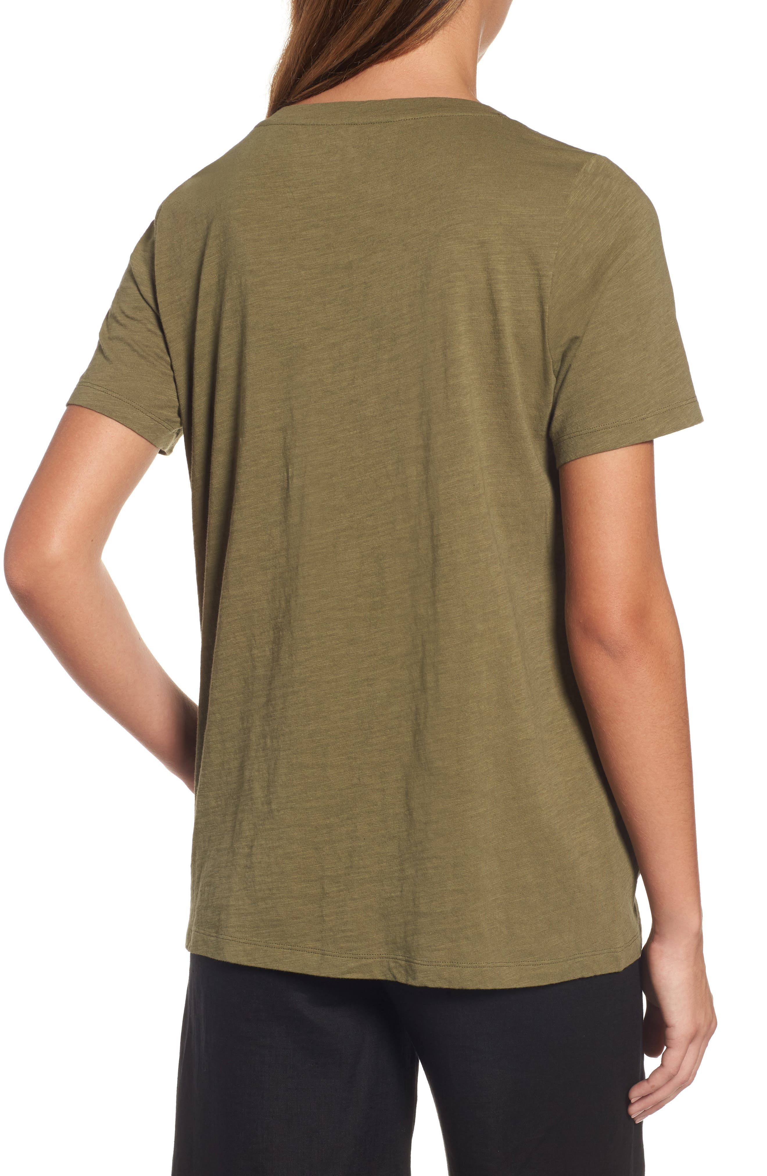 Organic Cotton Tee,                             Alternate thumbnail 2, color,                             Olive