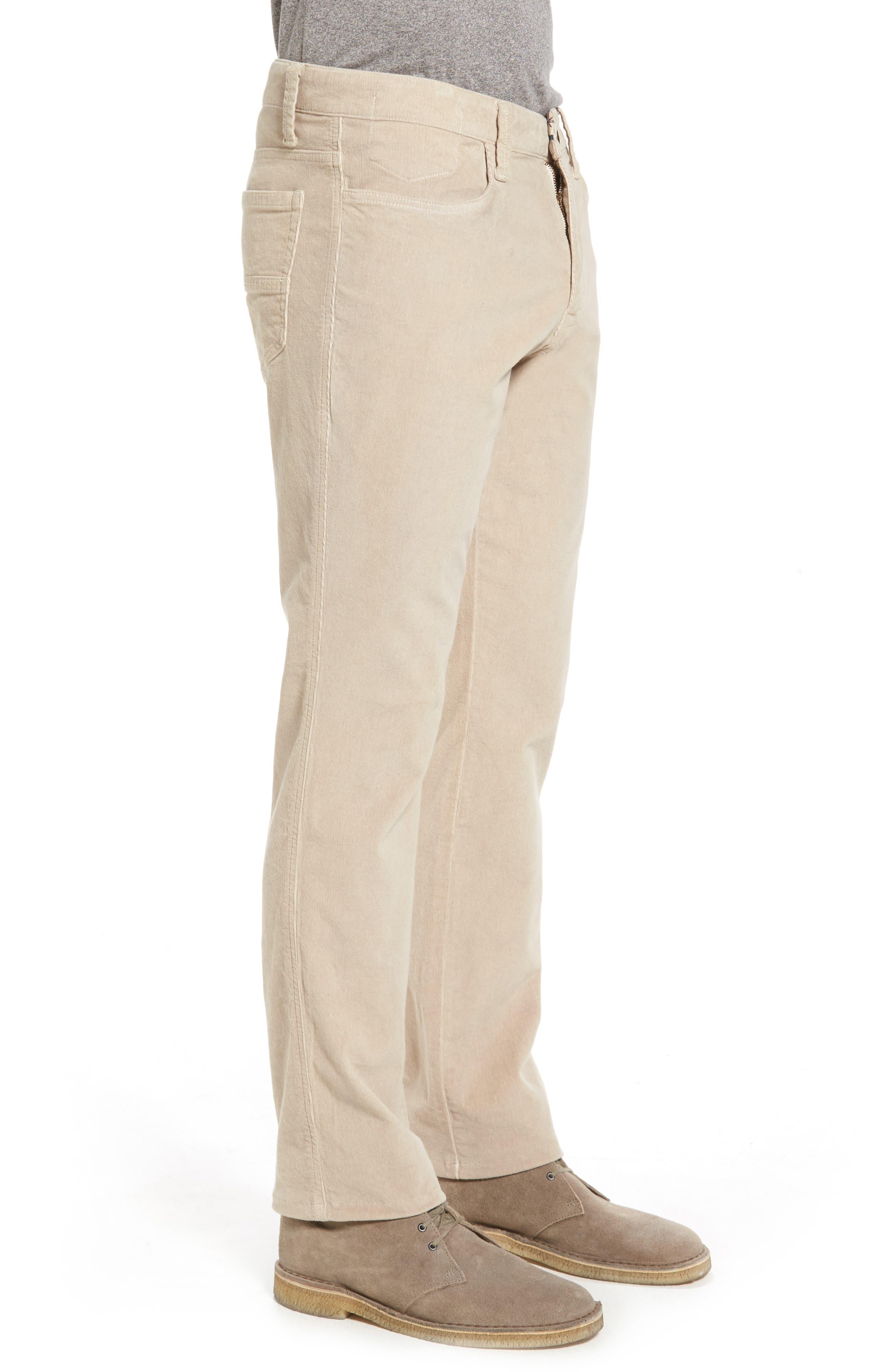Modern Fit Stretch Corduroy Pants,                             Alternate thumbnail 3, color,                             Oatmeal