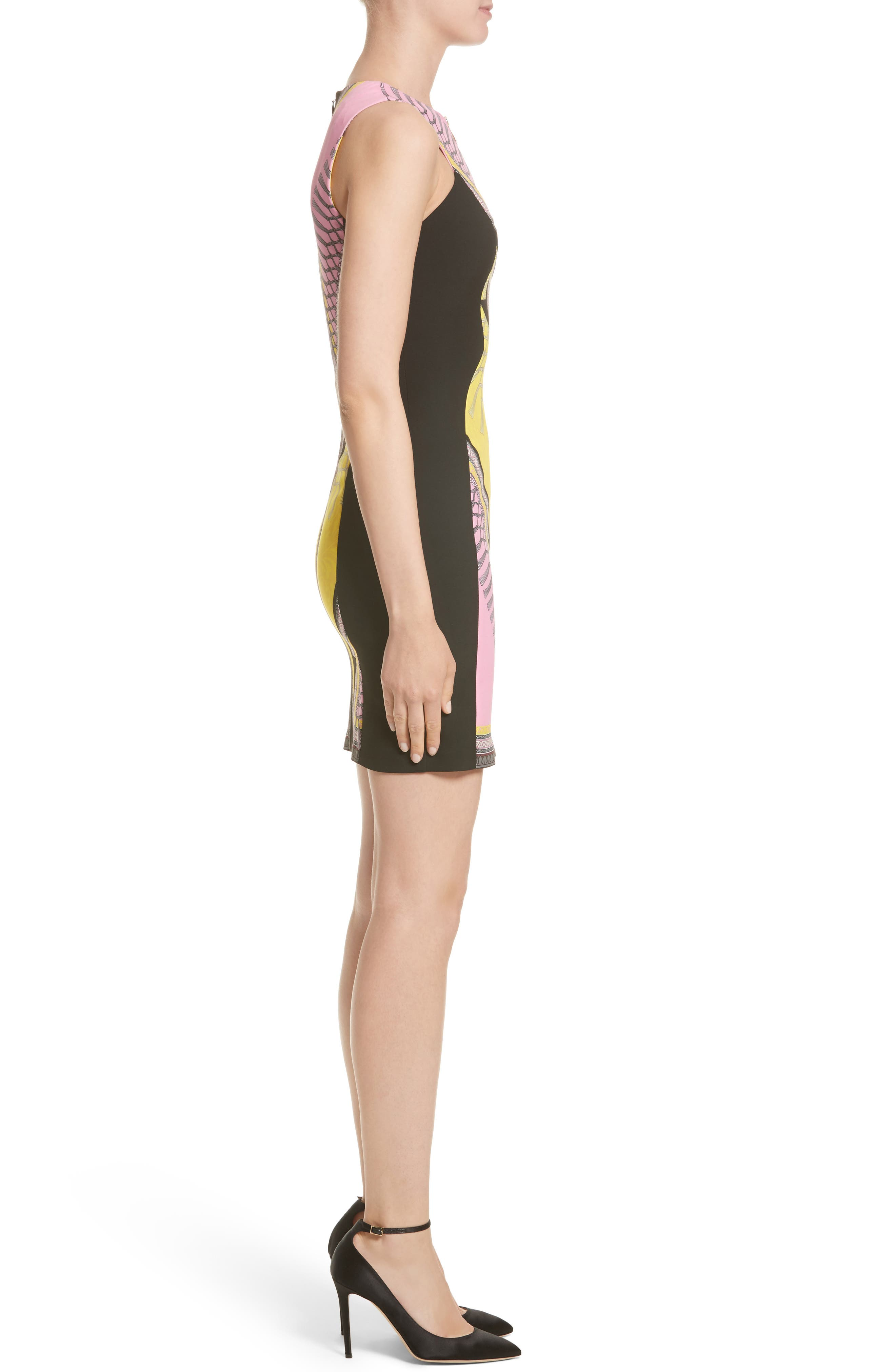 Alternate Image 5  - Versace Collection Scarf Print Stretch Cady Dress