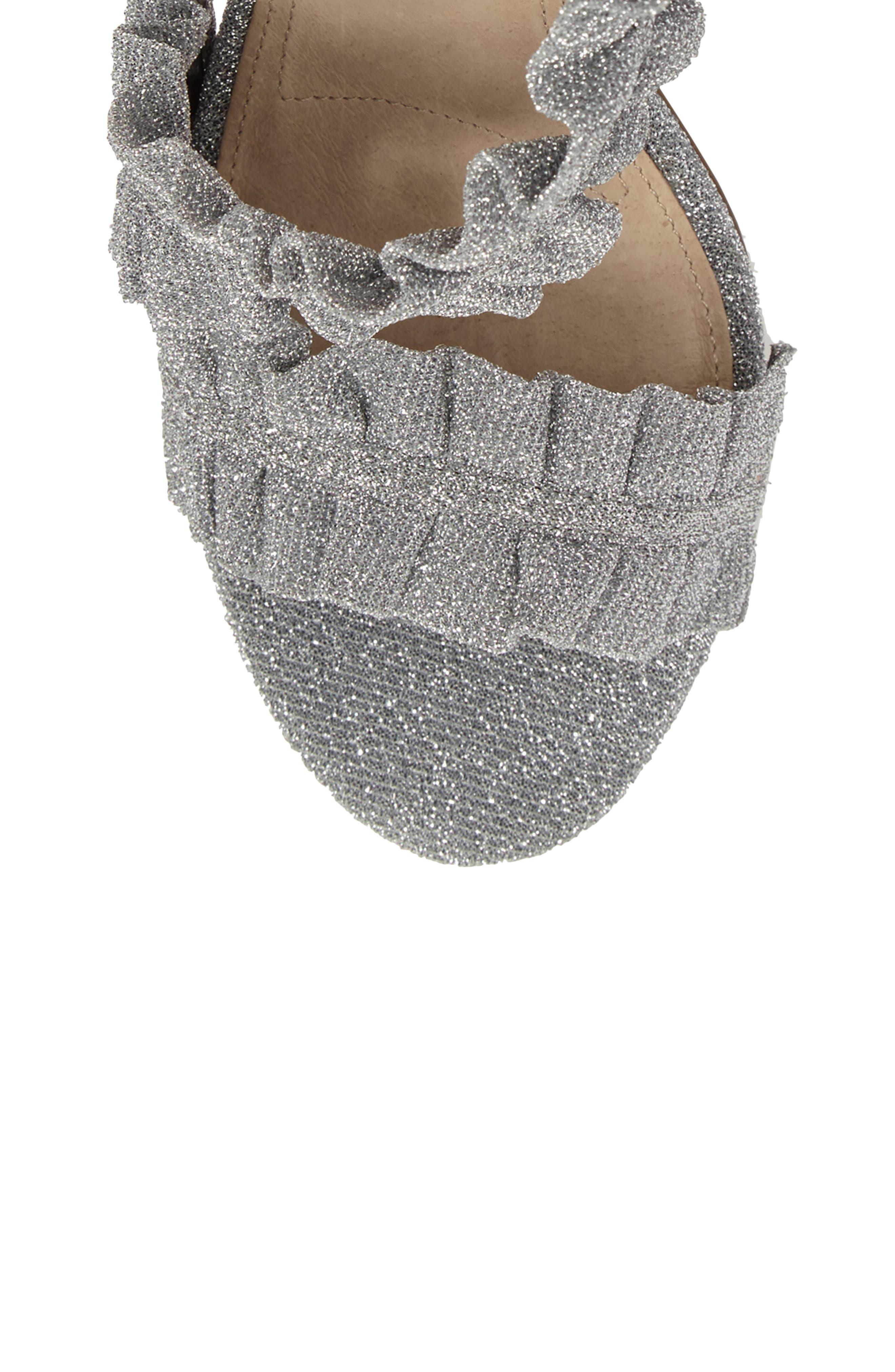 Alternate Image 5  - Topshop Real Asymmetrical Ruffled Sandal (Women)