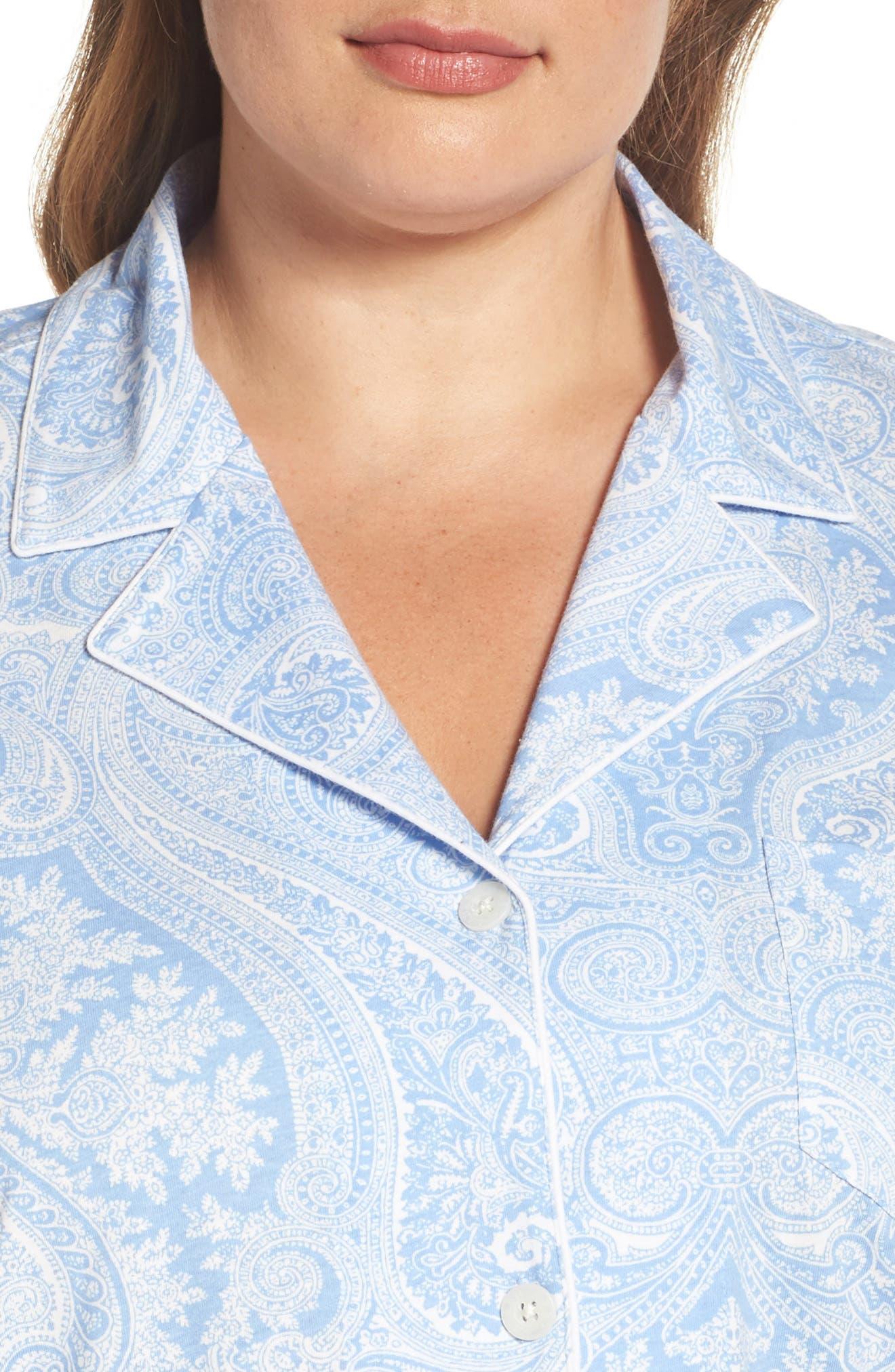 Alternate Image 5  - Lauren Ralph Lauren Knit Crop Pajamas (Plus Size) (Online Only)