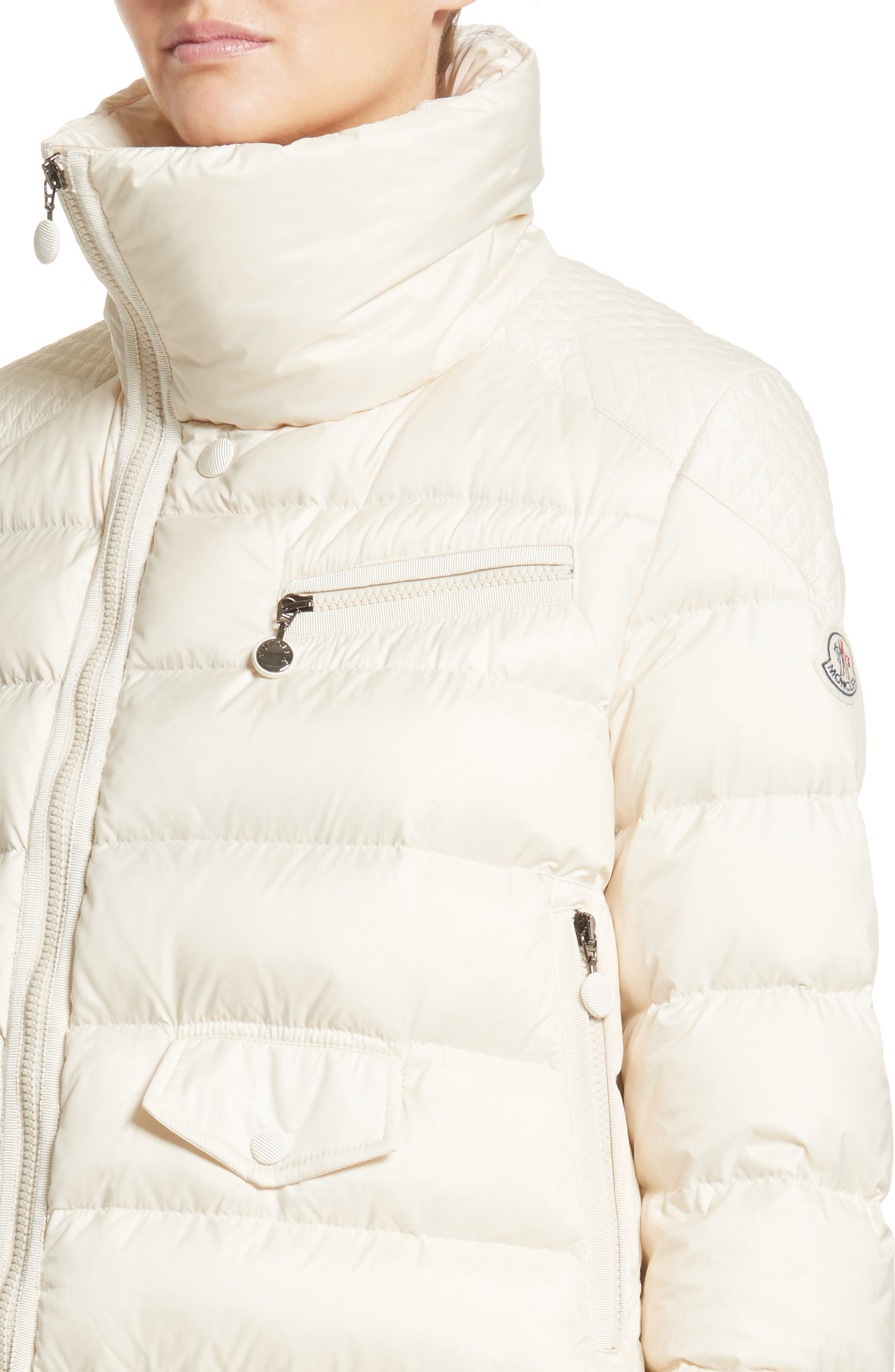 Margaret Down Puffer Jacket,                             Alternate thumbnail 4, color,                             Cream