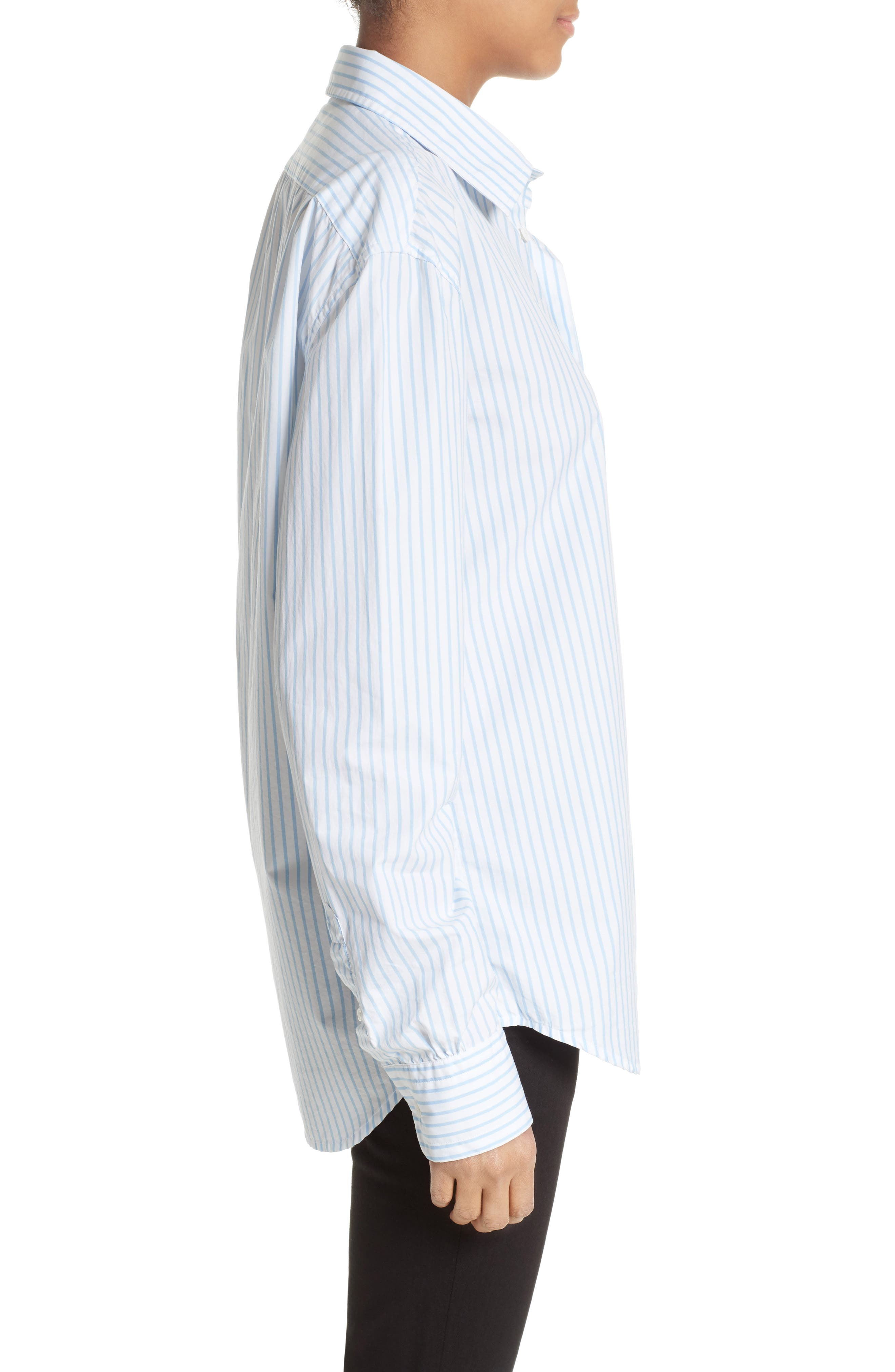 Alternate Image 4  - FRAME Stripe Poplin Shirt