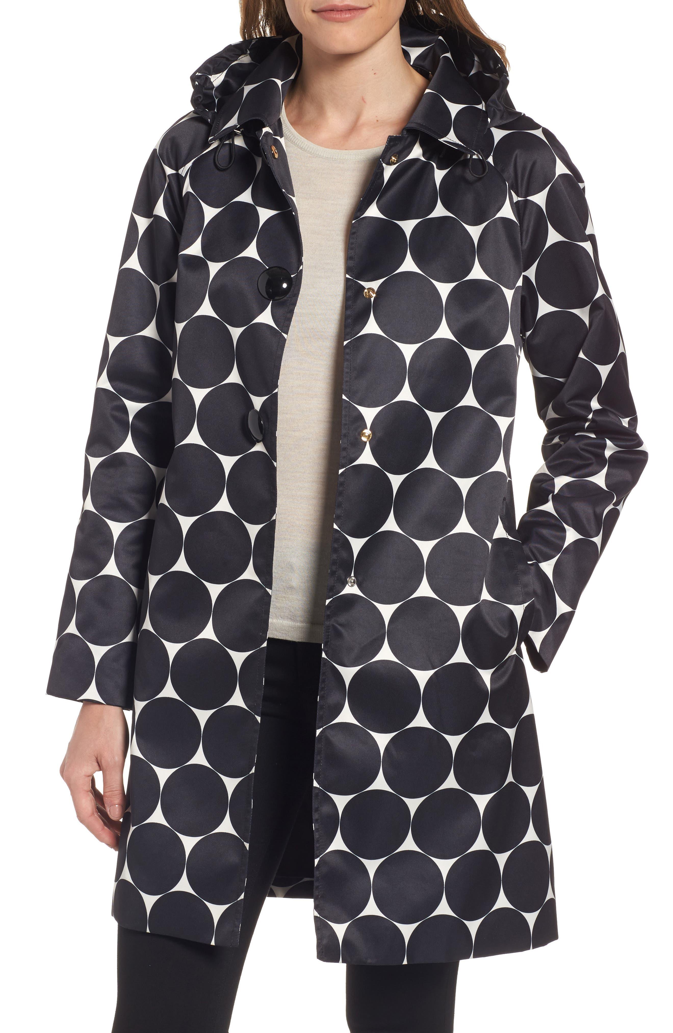 kate spade new york dot print raincoat