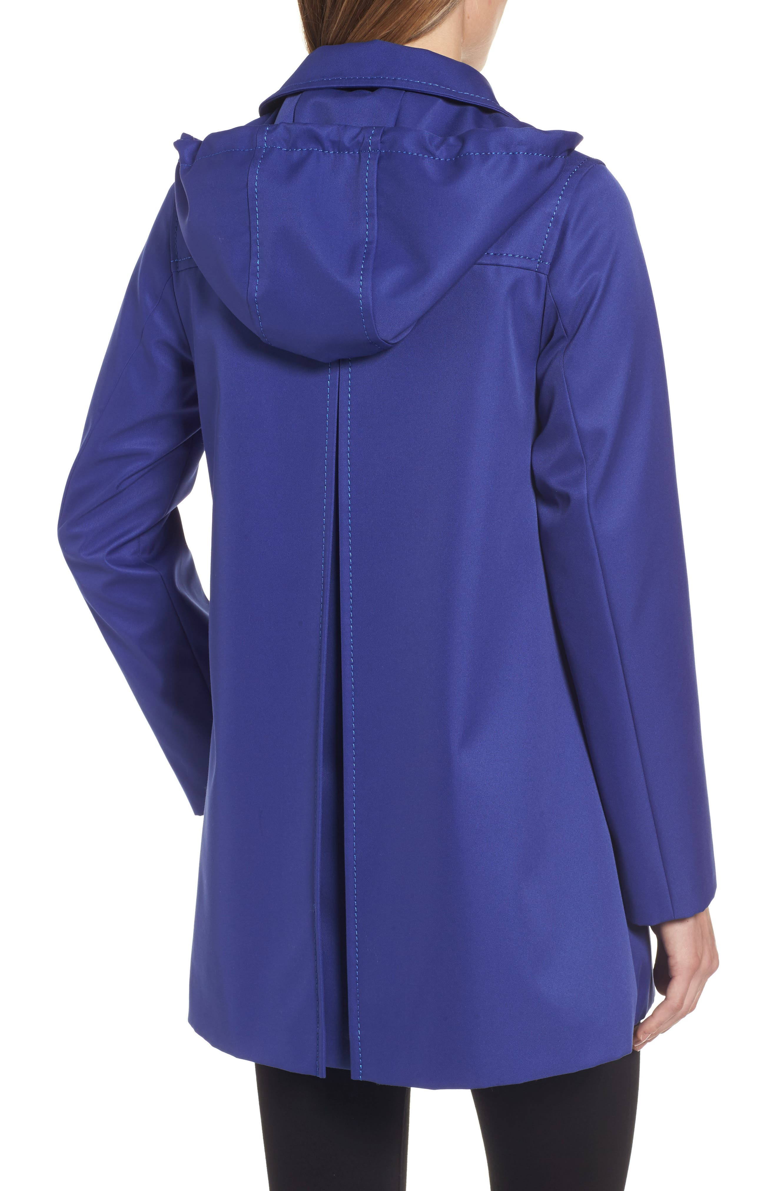 Alternate Image 2  - kate spade new york scallop pocket a-line raincoat (regular & petite)