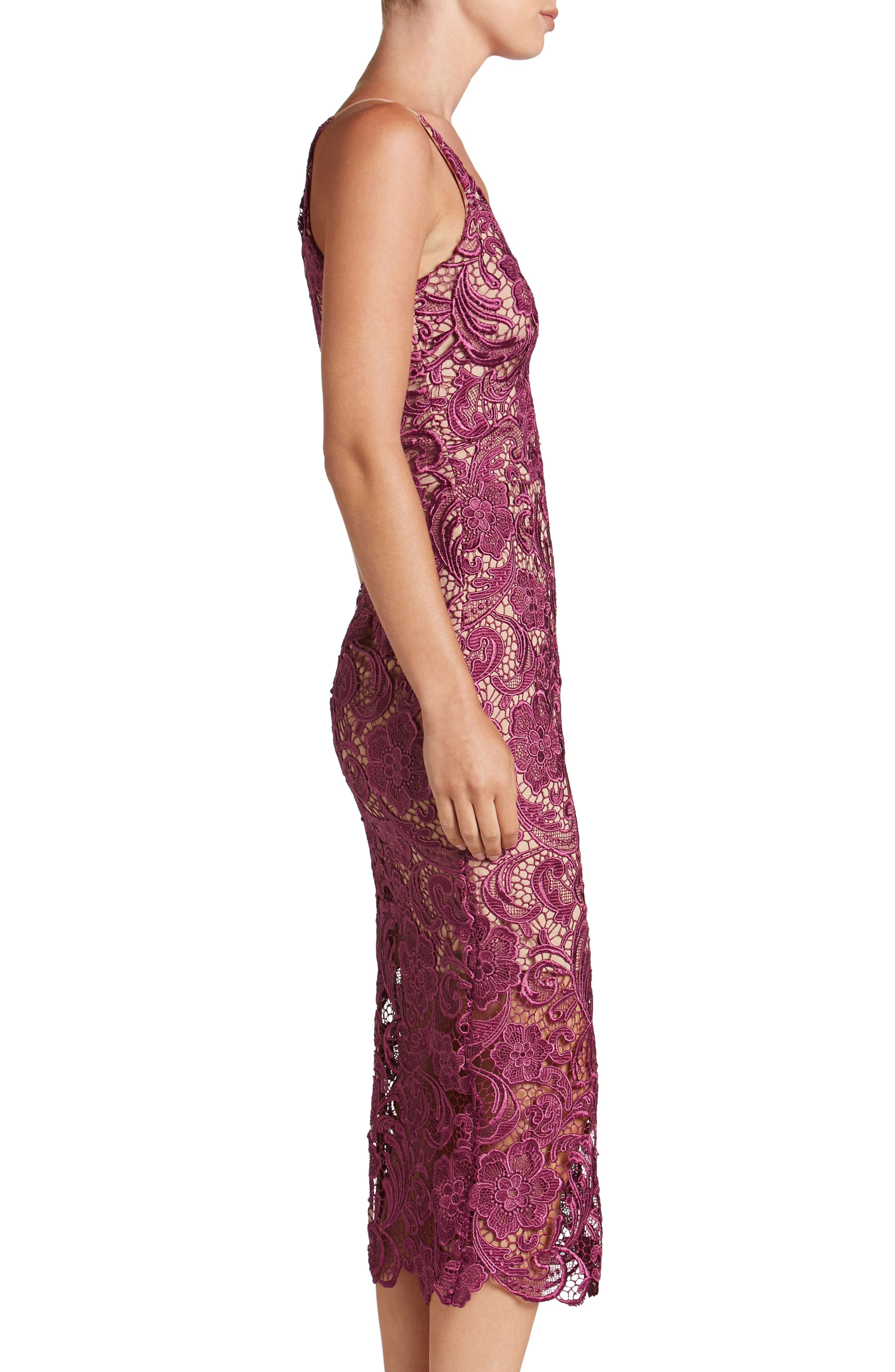 Alternate Image 3  - Dress the Population 'Marie' Lace Midi Dress