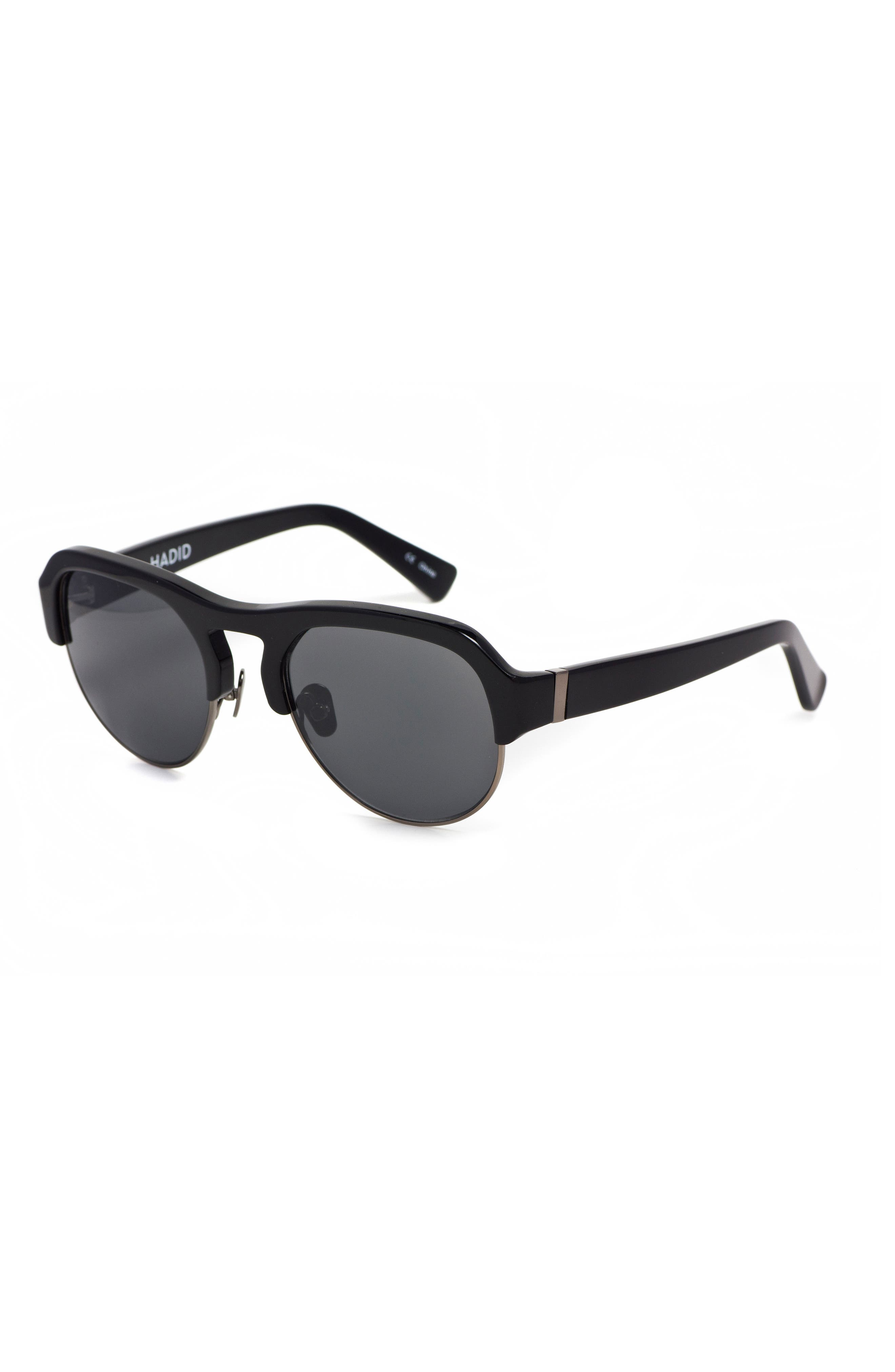 Nomad 52mm Sunglasses,                             Alternate thumbnail 4, color,                             Black/ Gunmetal