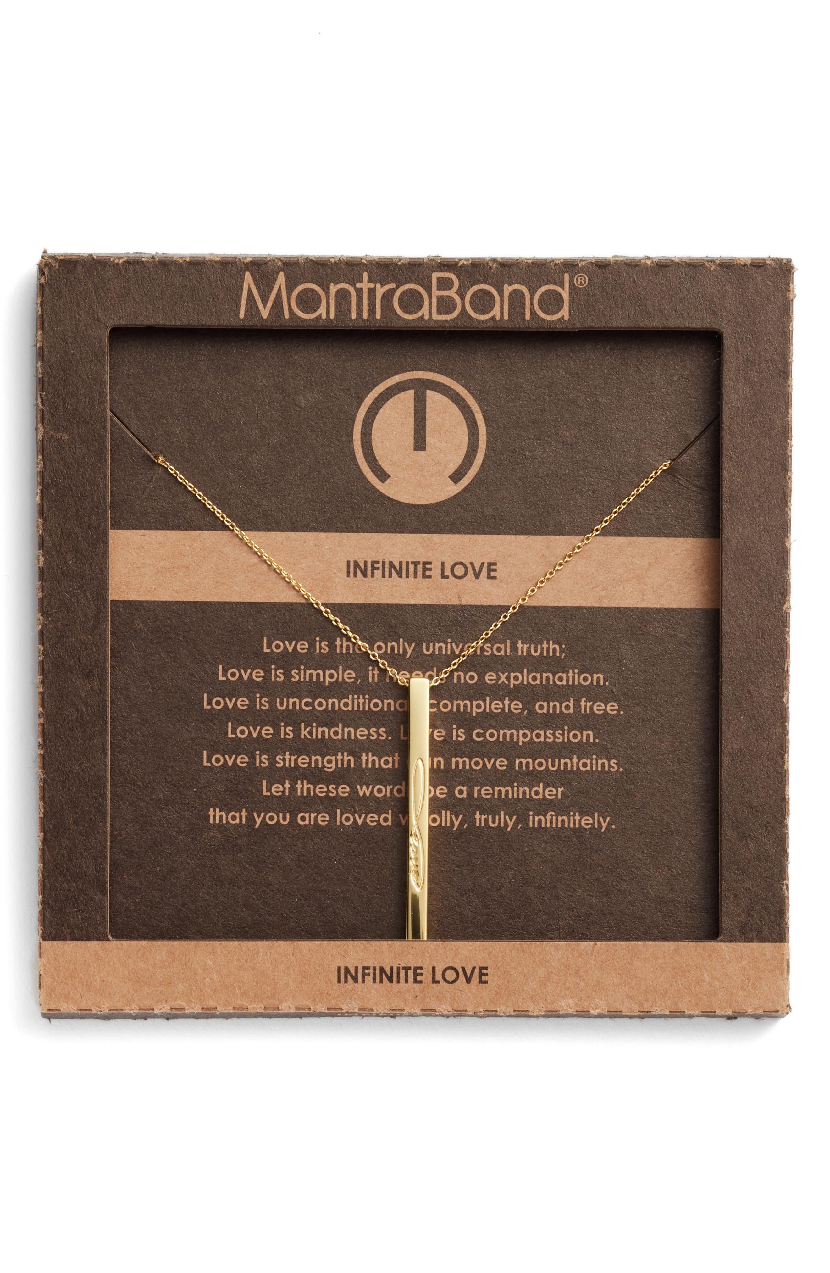 Infinitie Love Pendant Necklace,                             Alternate thumbnail 3, color,                             Gold