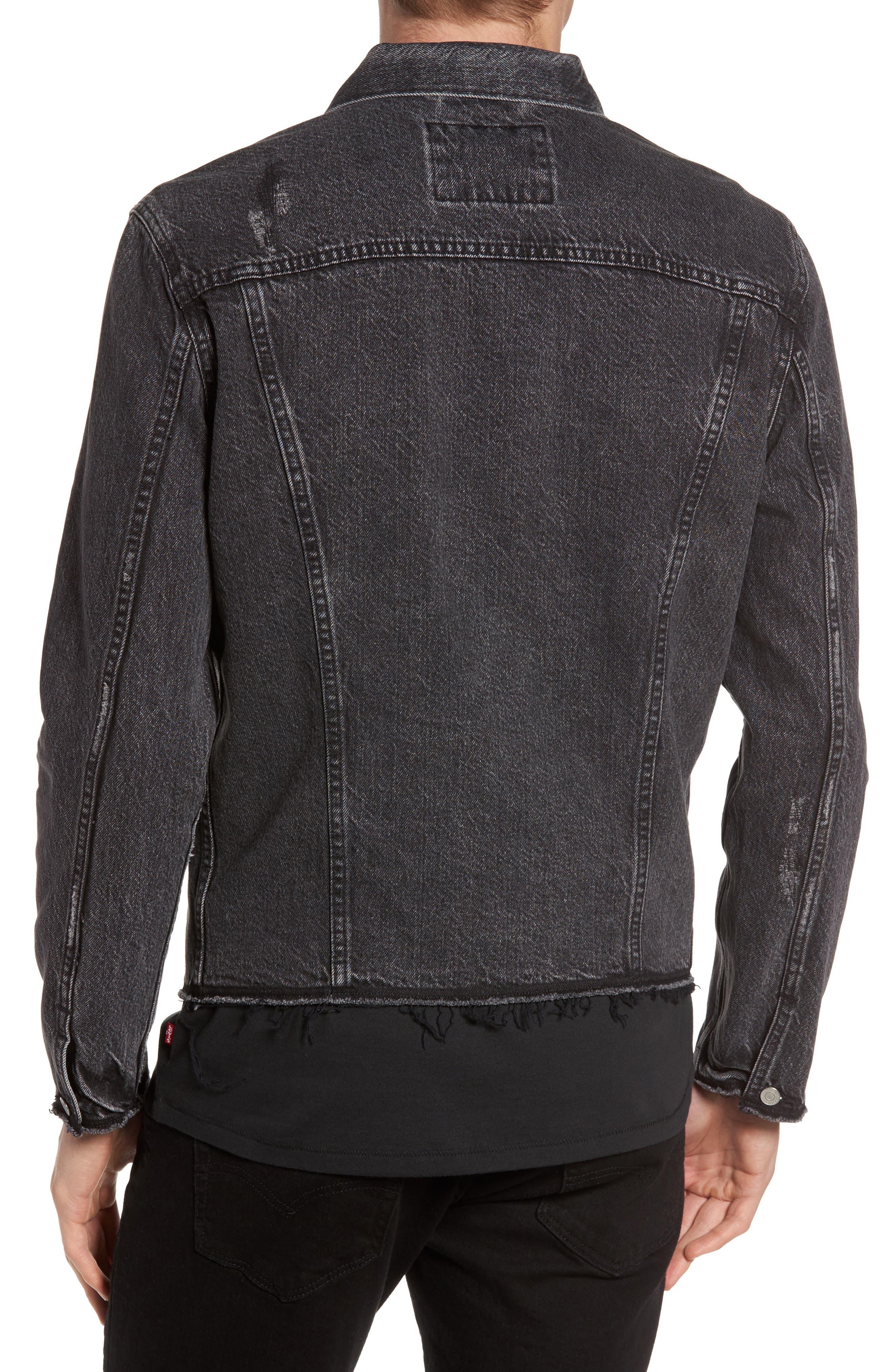Alternate Image 2  - Levi's® Altered Distressed Denim Trucker Jacket