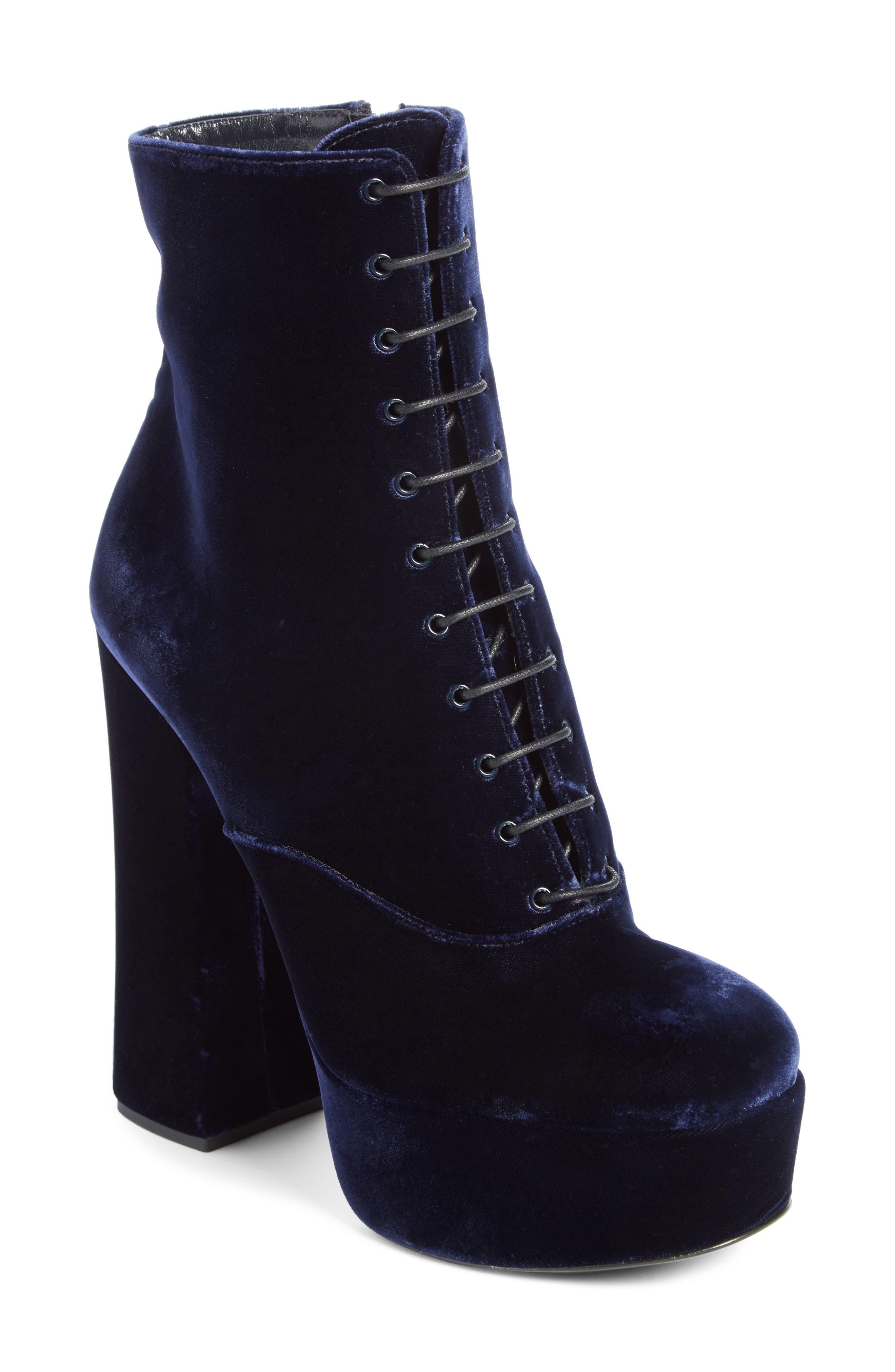 Prada Lace-Up Platform Boot (Women)