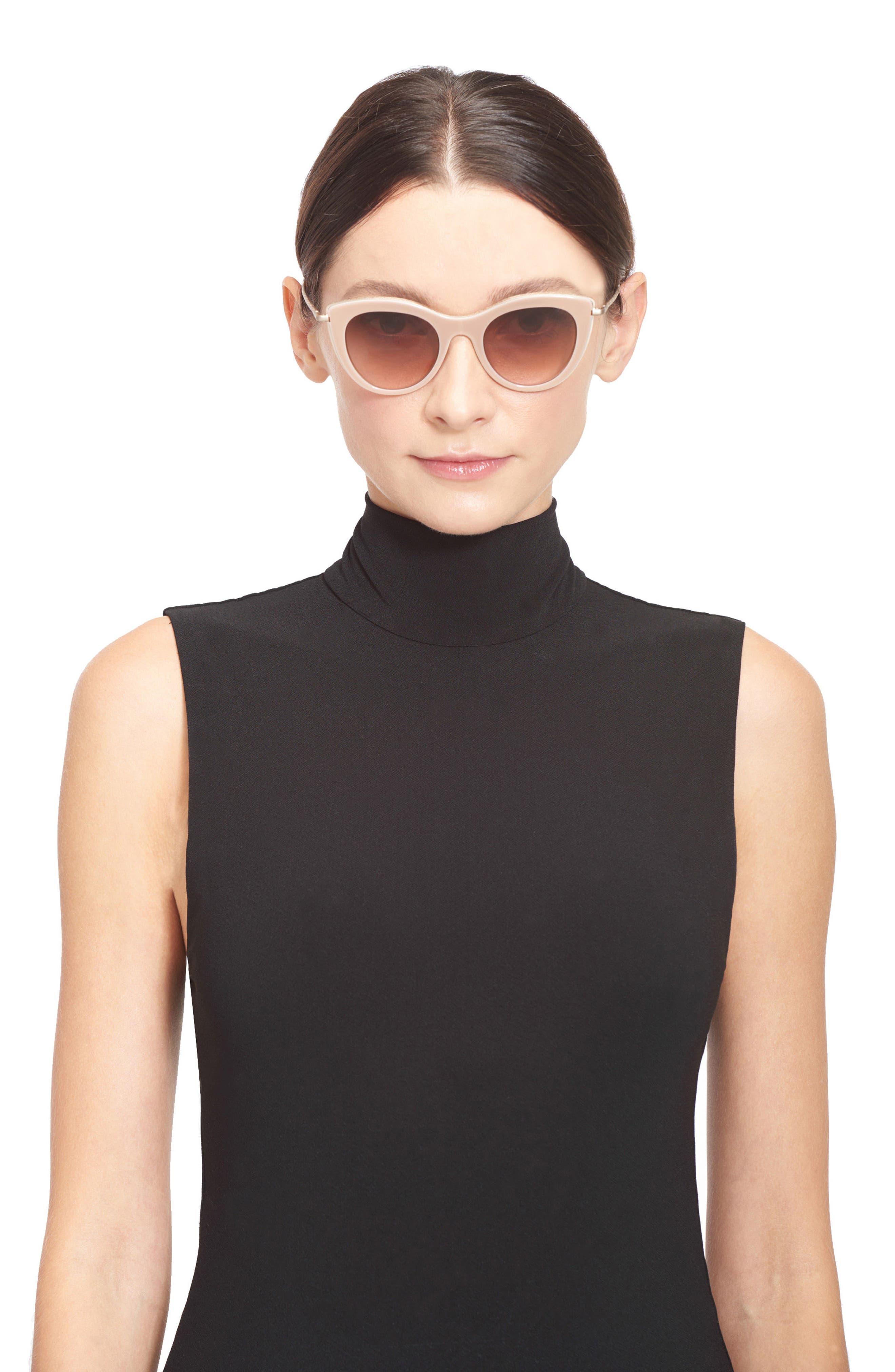 Gansevoort 48mm Special Fit Cat Eye Sunglasses,                             Alternate thumbnail 2, color,                             Blush