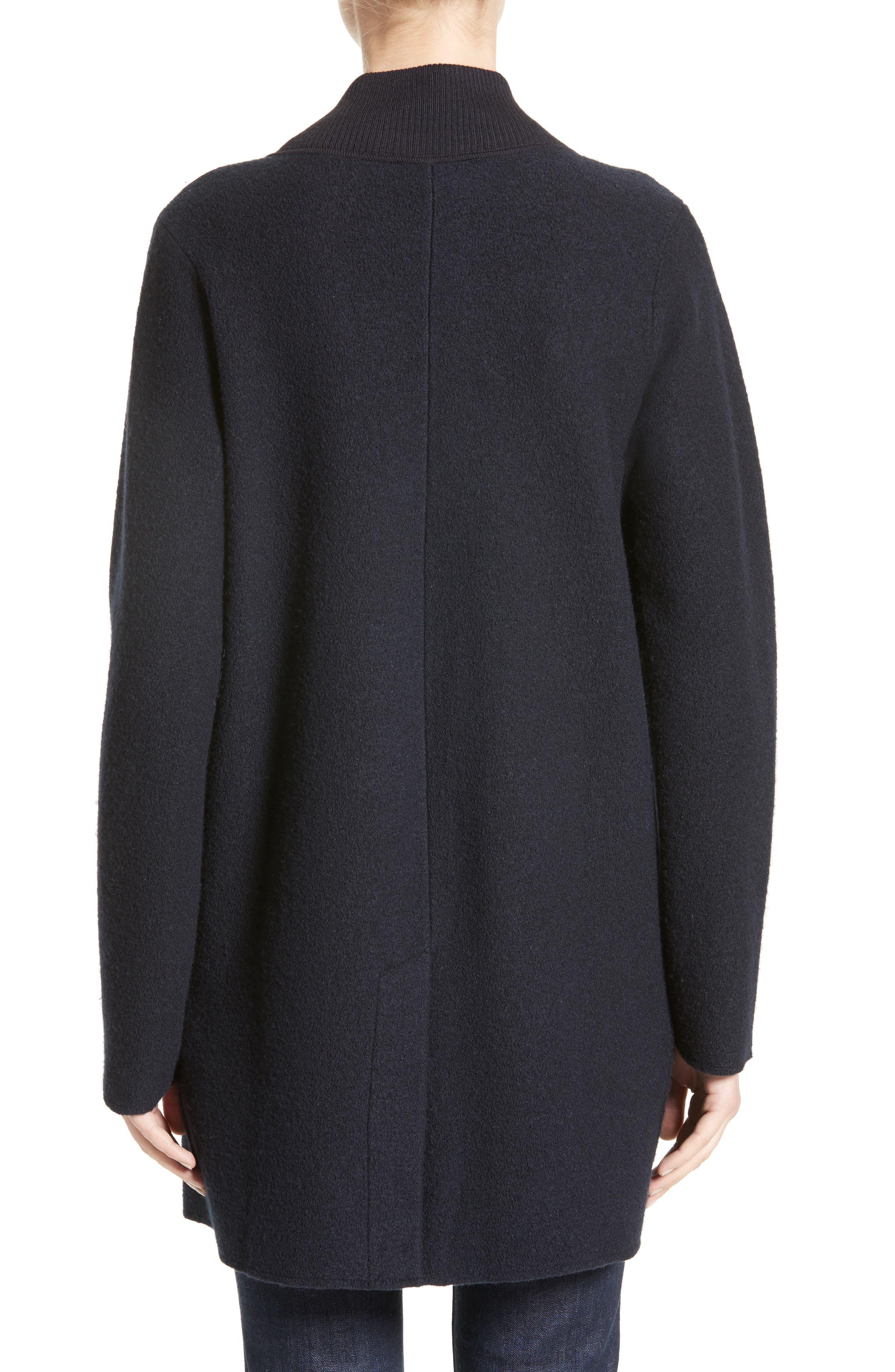 Armani Jeans Single Button Wool Coat,                             Alternate thumbnail 2, color,                             Navy