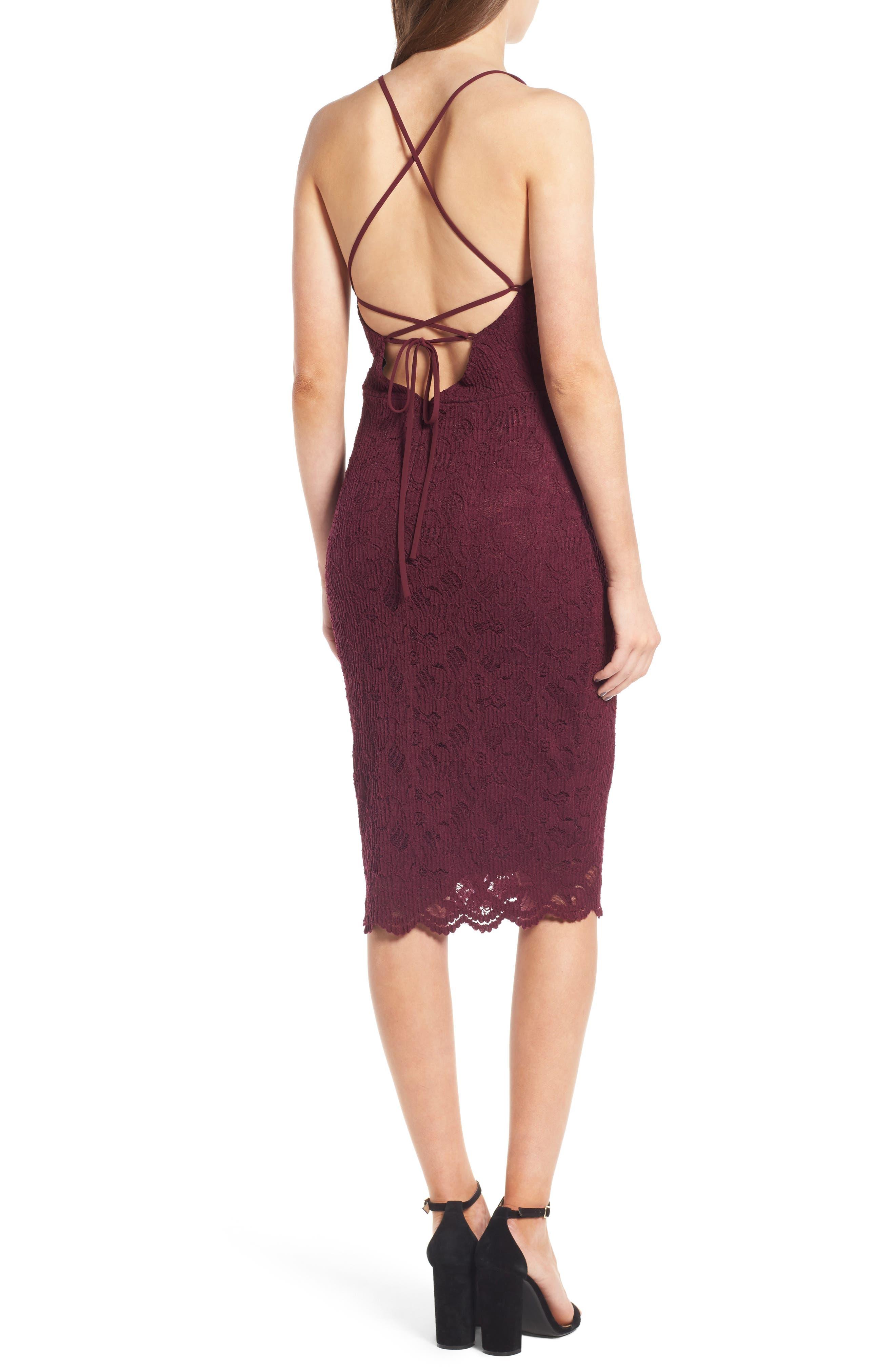 Alternate Image 2  - Soprano Lace Body-Con Dress
