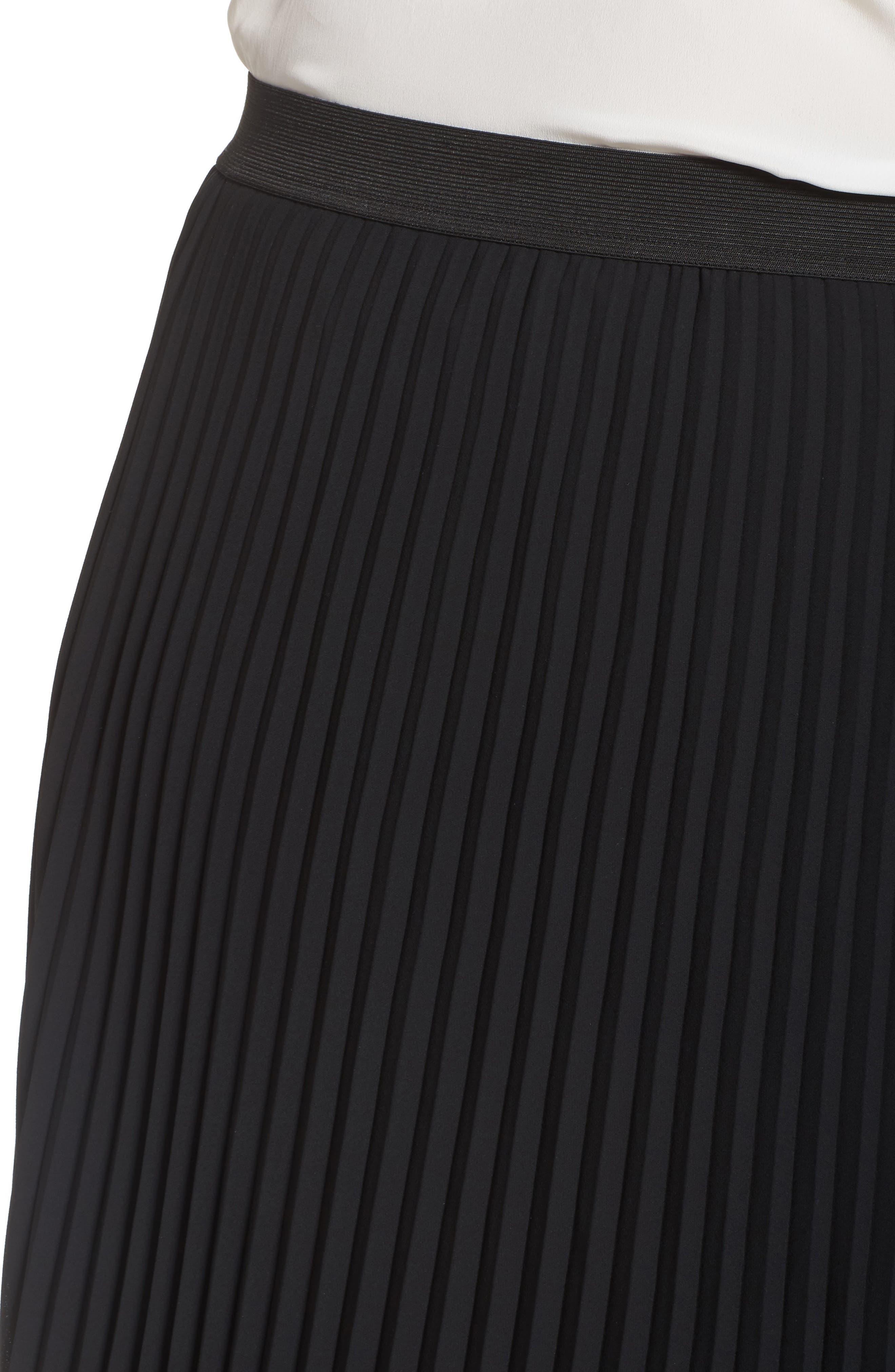 Alternate Image 5  - Sejour Pleated Midi Skirt (Plus Size)